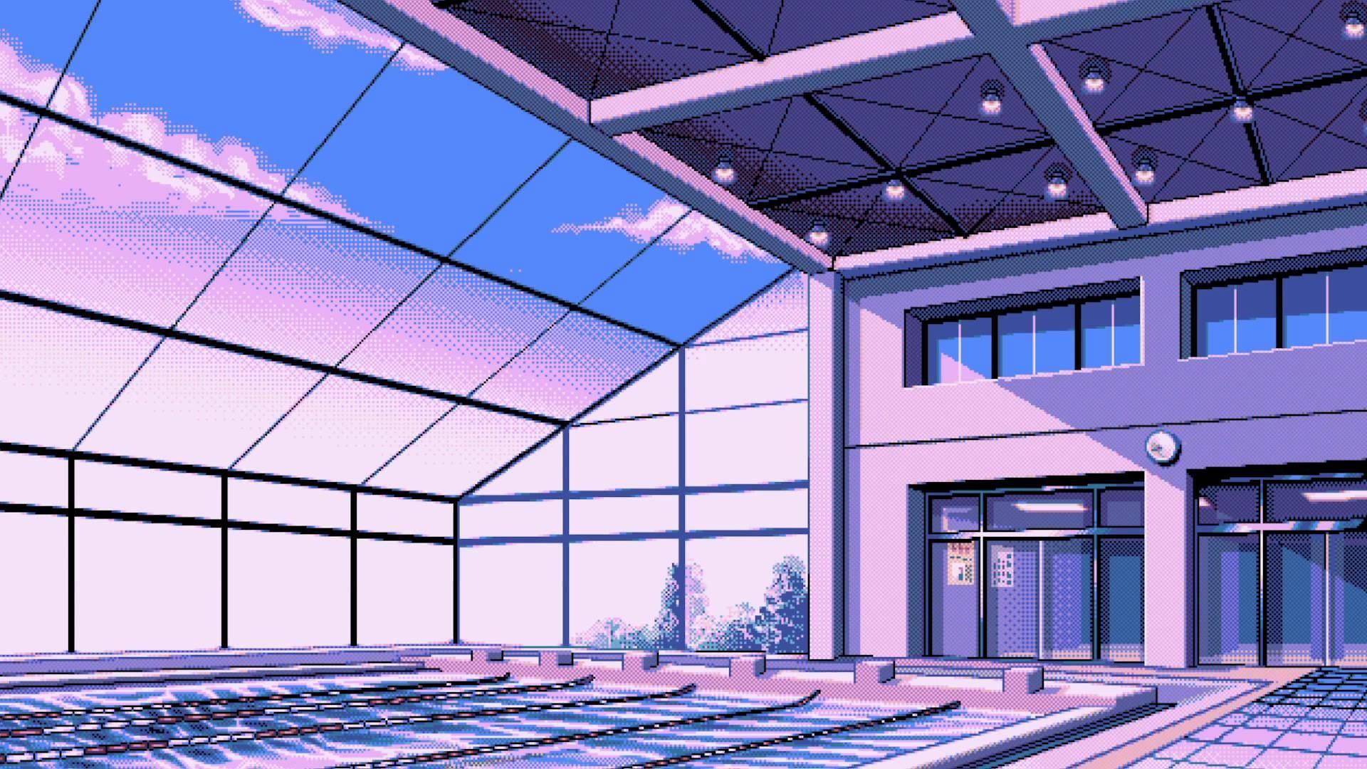 Fond d 39 cran fen tre architecture pixel art b timent for Architecture fenetre