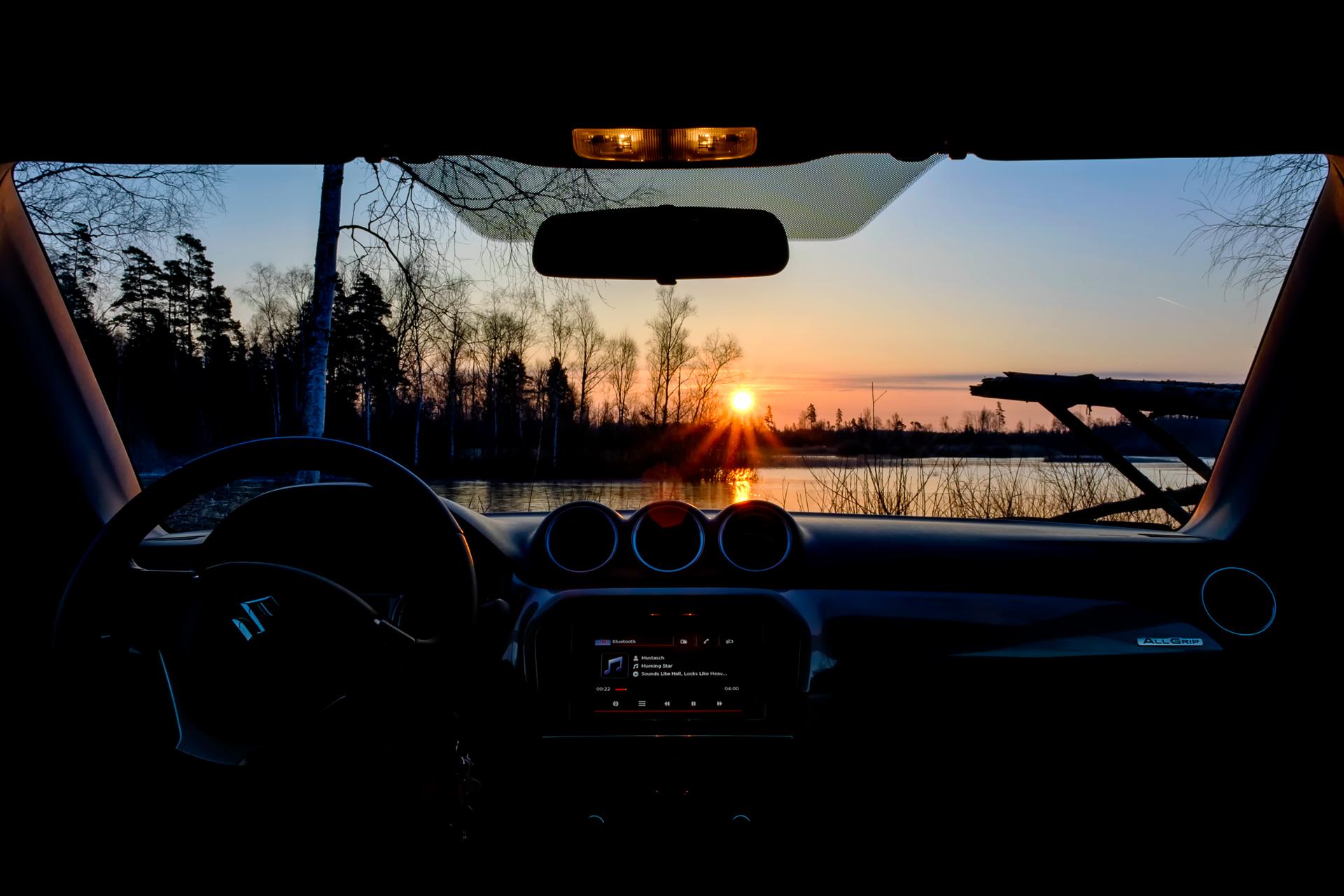 Wallpaper Night Reflection Sky Sunrise Evening