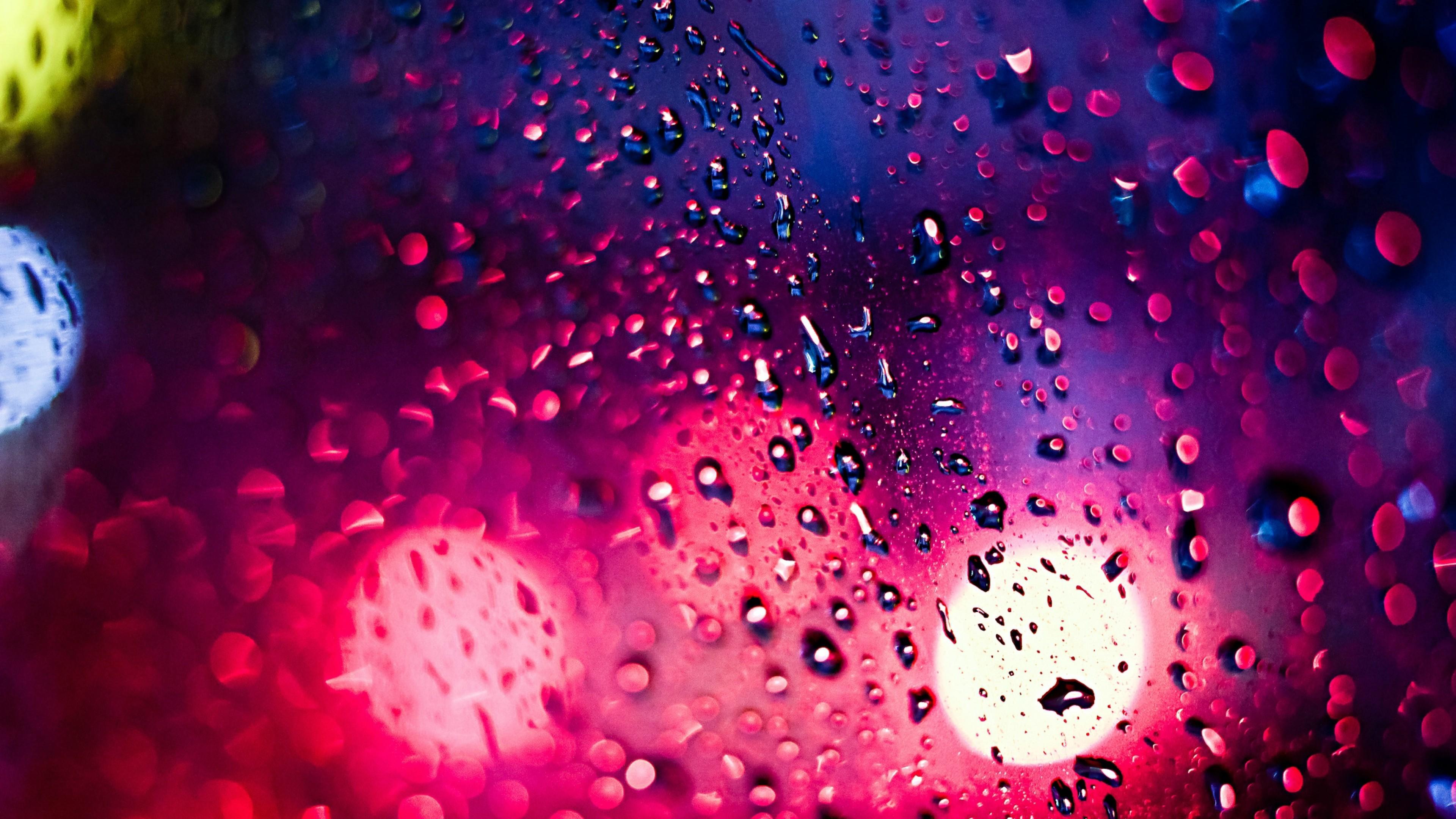 Wallpaper : Window, Night, Red, Water Drops, Glass, Circle