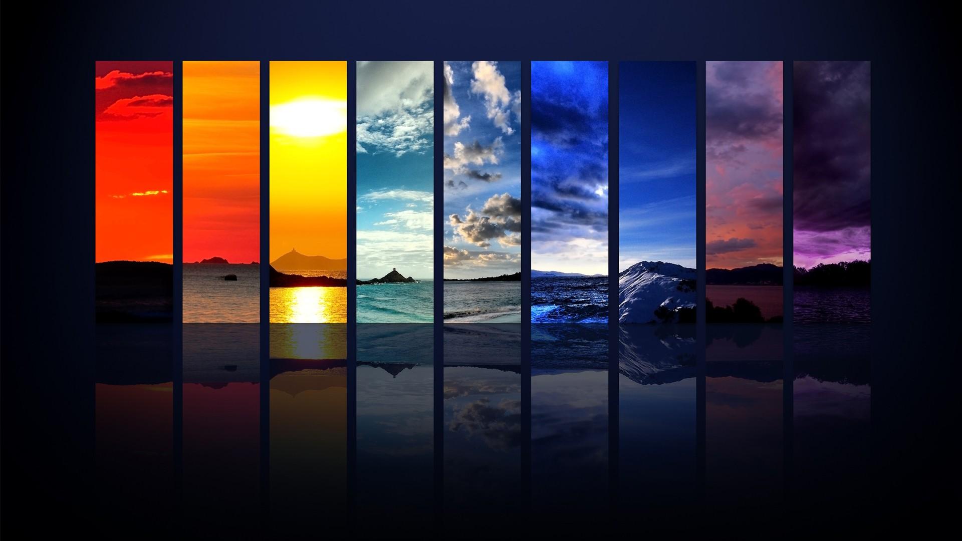 デスクトップ壁紙 窓 夜 反射 対称 ガラス 時間 雰囲気