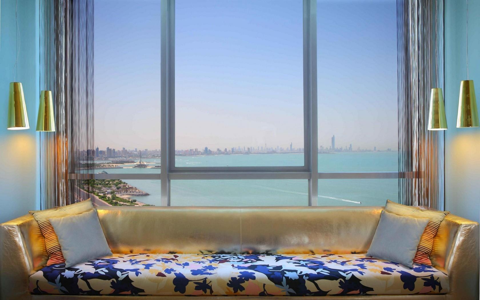Wallpaper swimming pool bedroom interior design for Interior design bedroom with pool