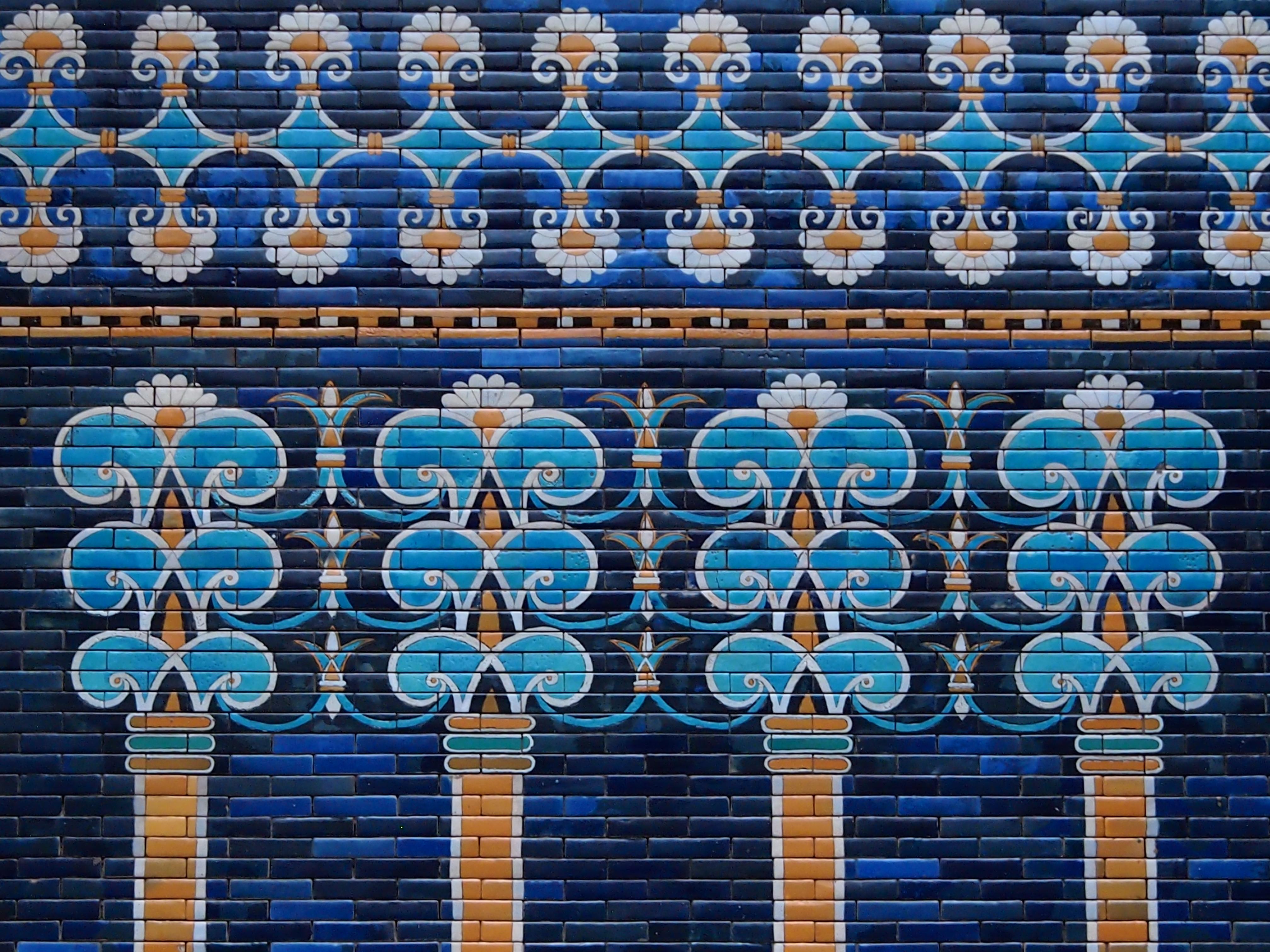 Fliesenausstellung Berlin wallpaper window symmetry blue germany pattern museum berlin