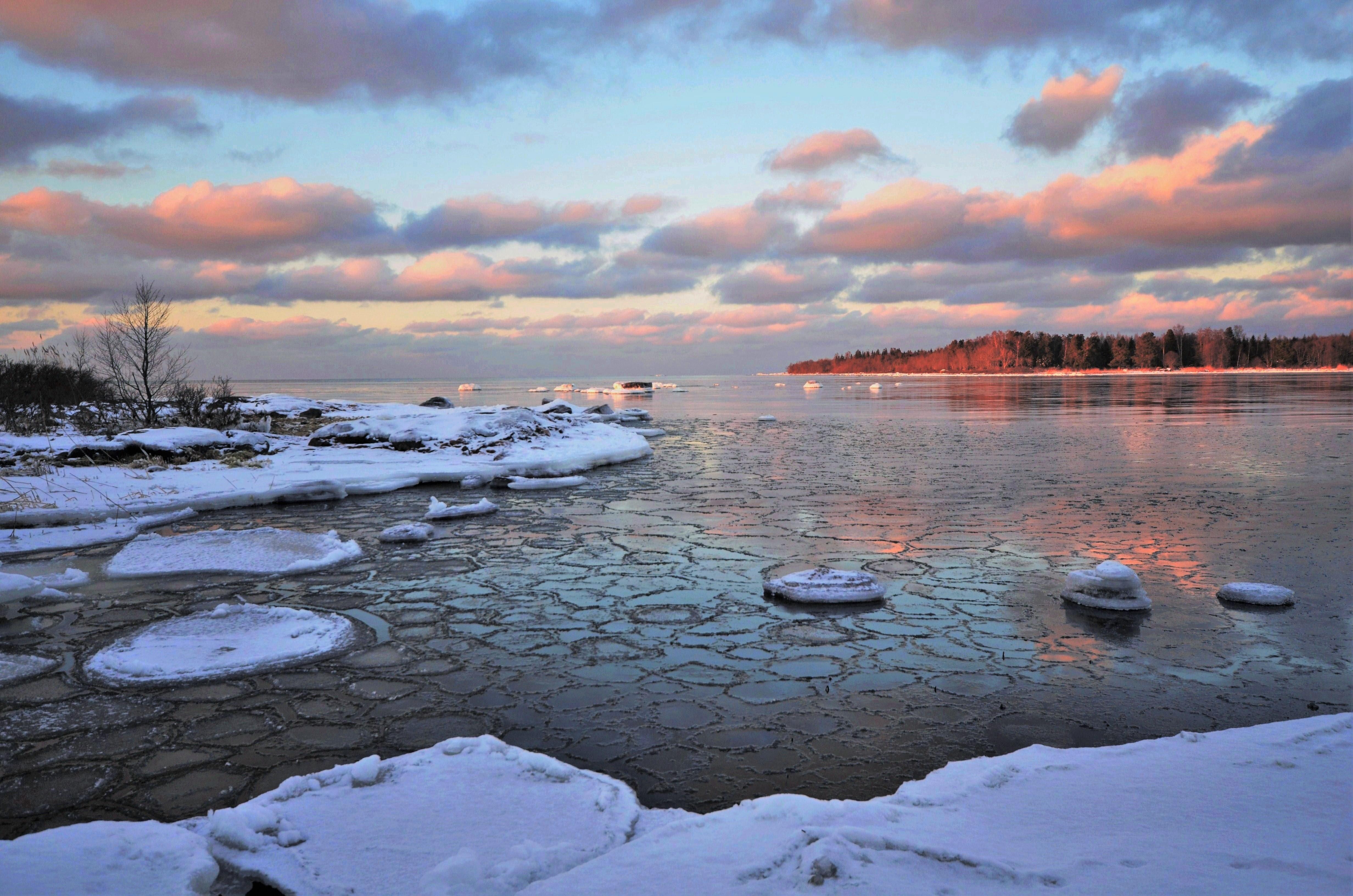 Wallpaper Winter Invierno Ice Hielo Mar Sky Sea