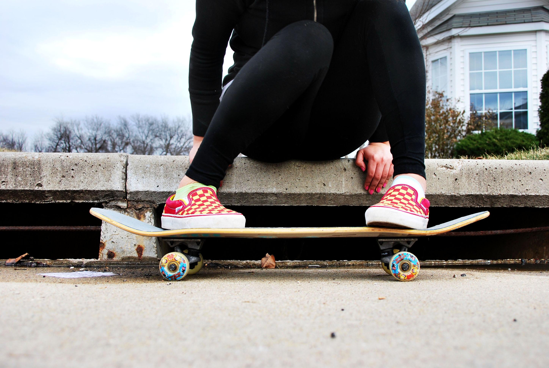 Winter Photography Skateboarding Skating Skateboard Vans Checker Leggings