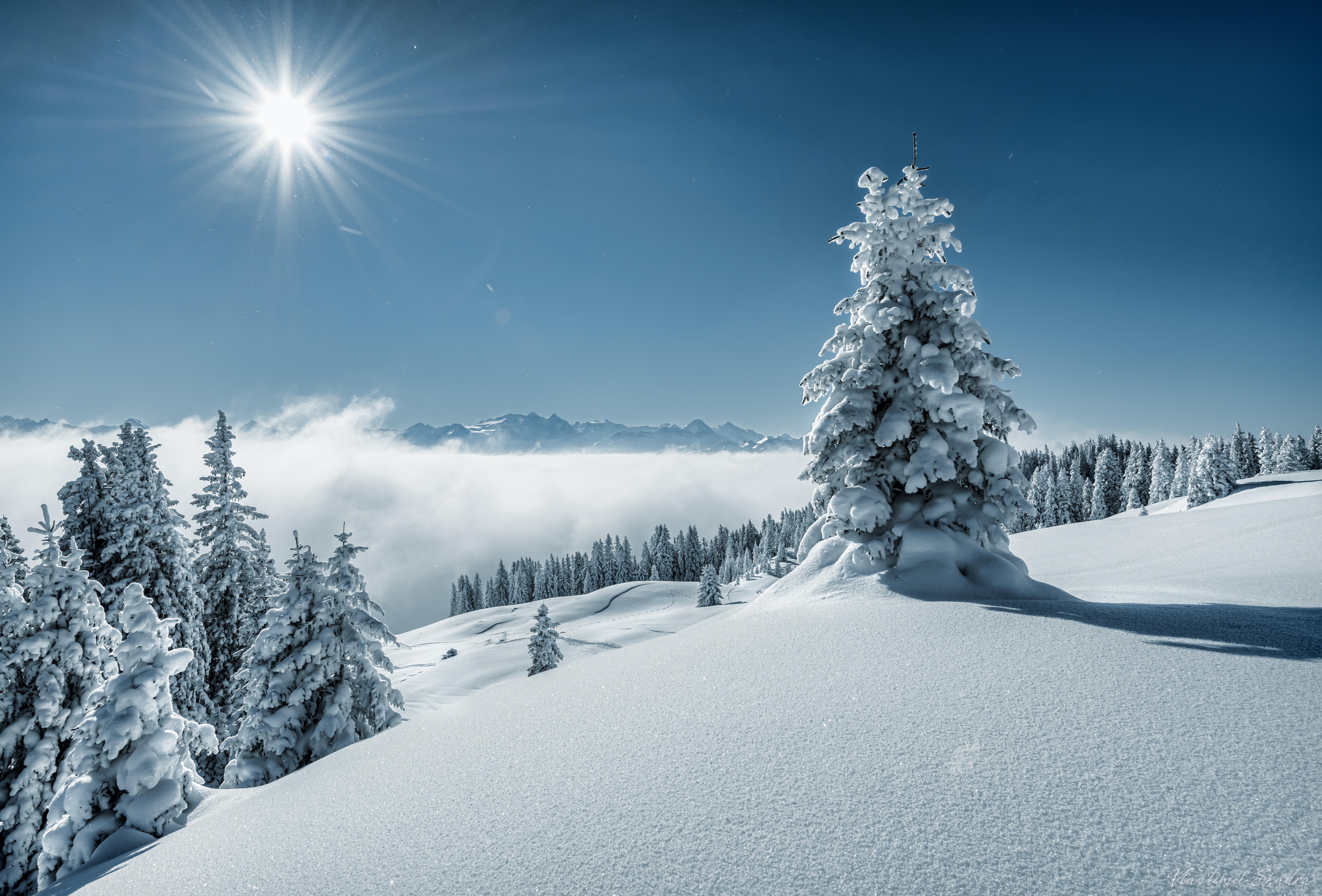 デスクトップ壁紙 冬 雪 空 自然 山岳地形 凍結 山脈 霜