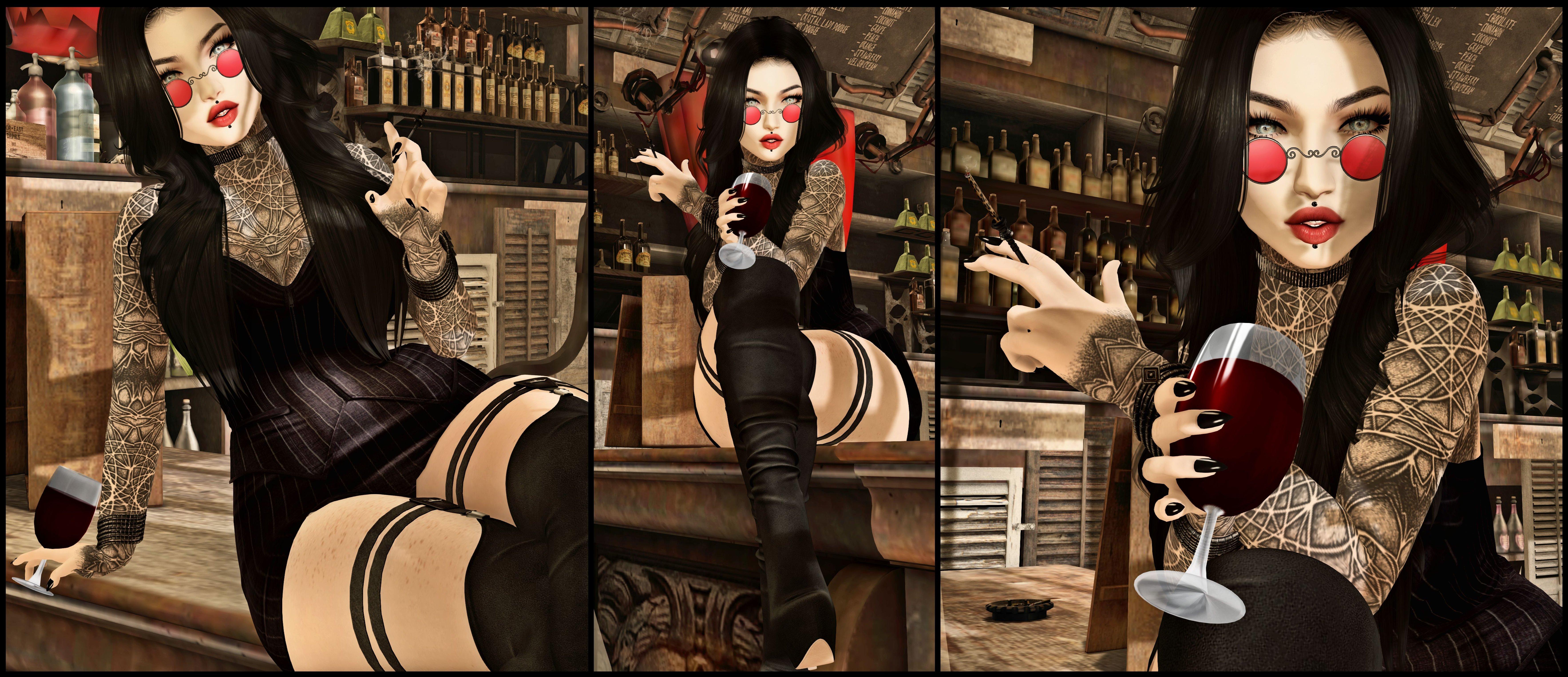 Wallpaper : woman, female, sexy, bar, wine, smoking