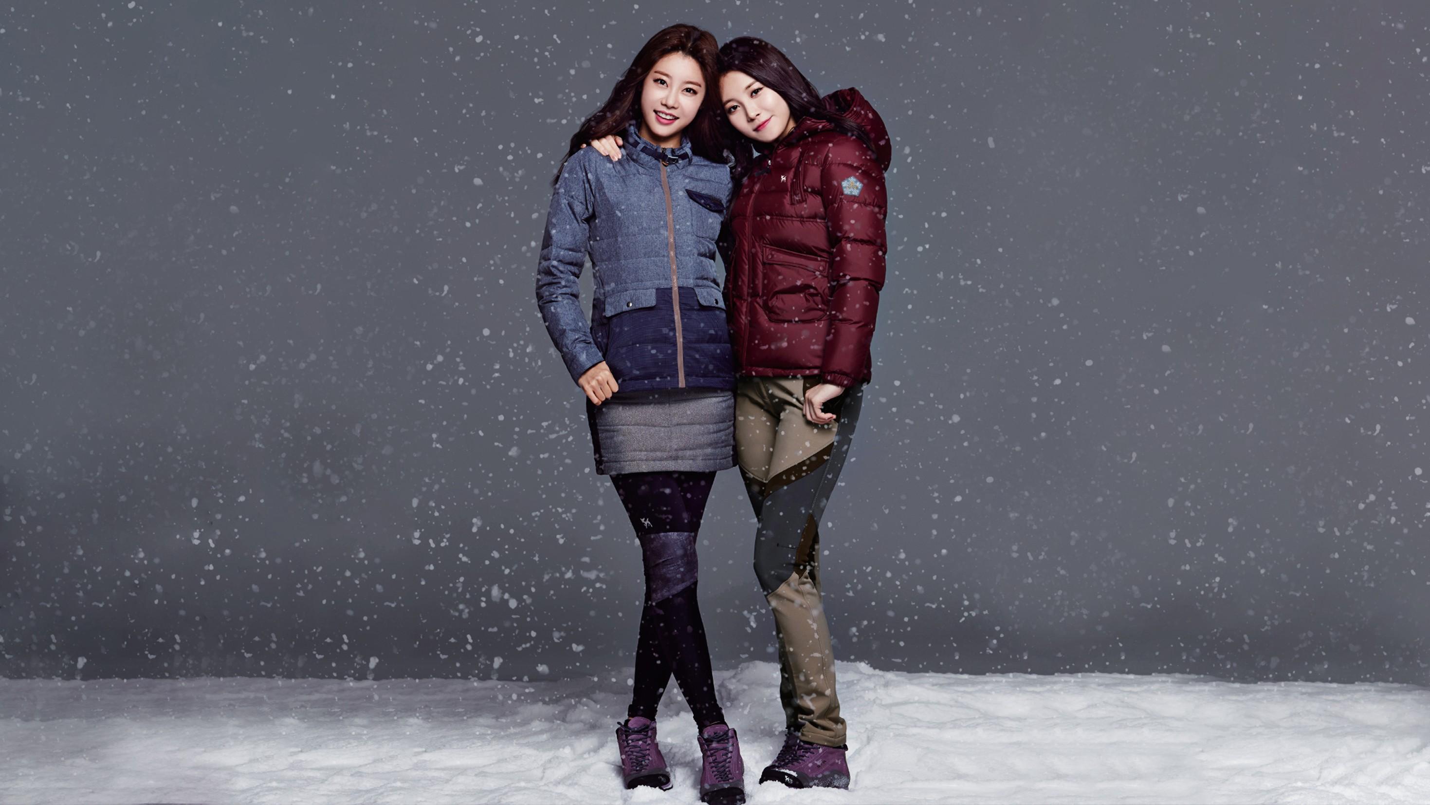 Wallpaper Women Asian Snow Winter Fashion Korean Spring Weather Season Footwear Photo Shoot 2938x1653 Rocketizada 198355 Hd Wallpapers Wallhere