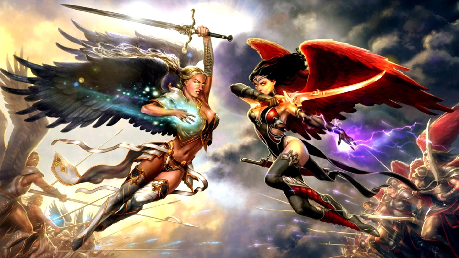 сражающиеся ангелы картинки блоге