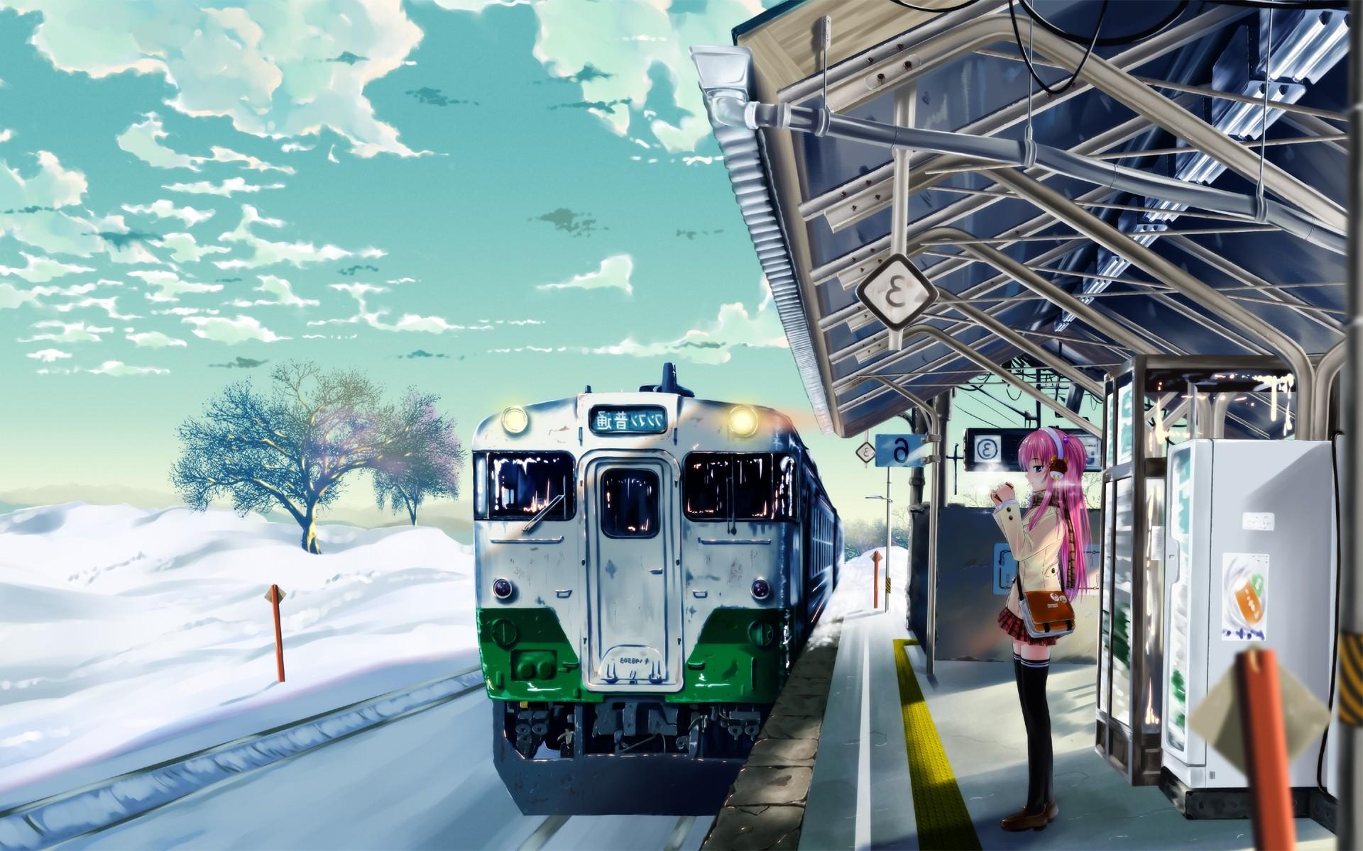 Аниме картинки с поездами