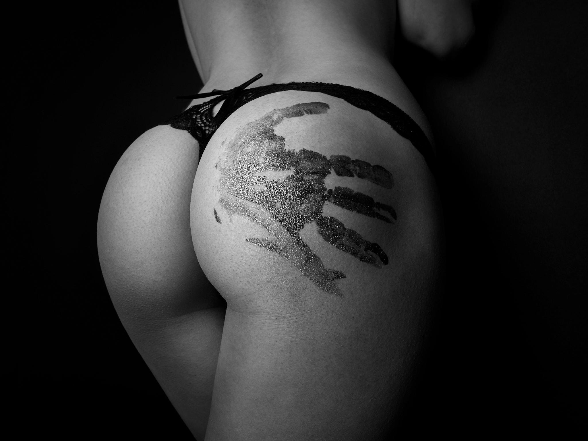 Man Grabs Woman's Ass Art Print By Lemonnude