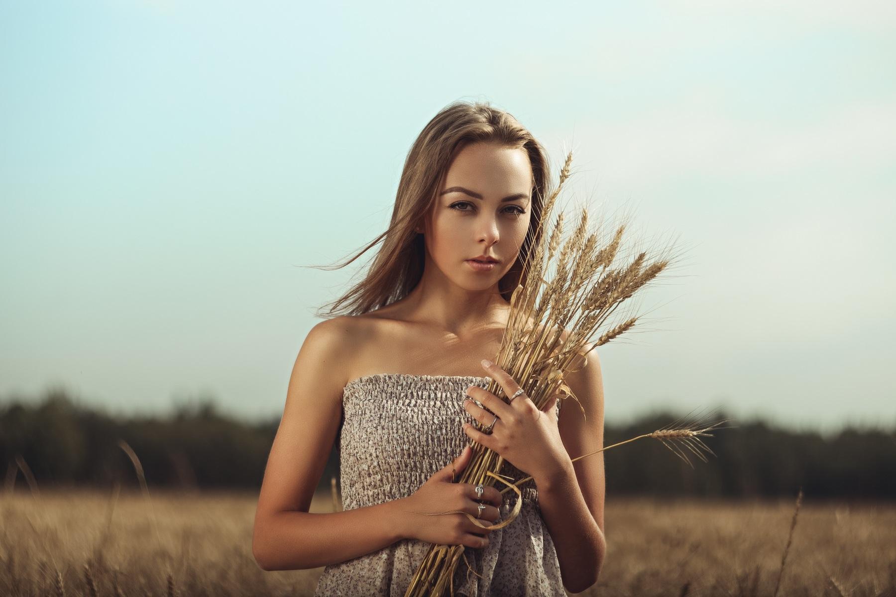 field, Nature, Women Outdoors, Women, Model Wallpapers HD