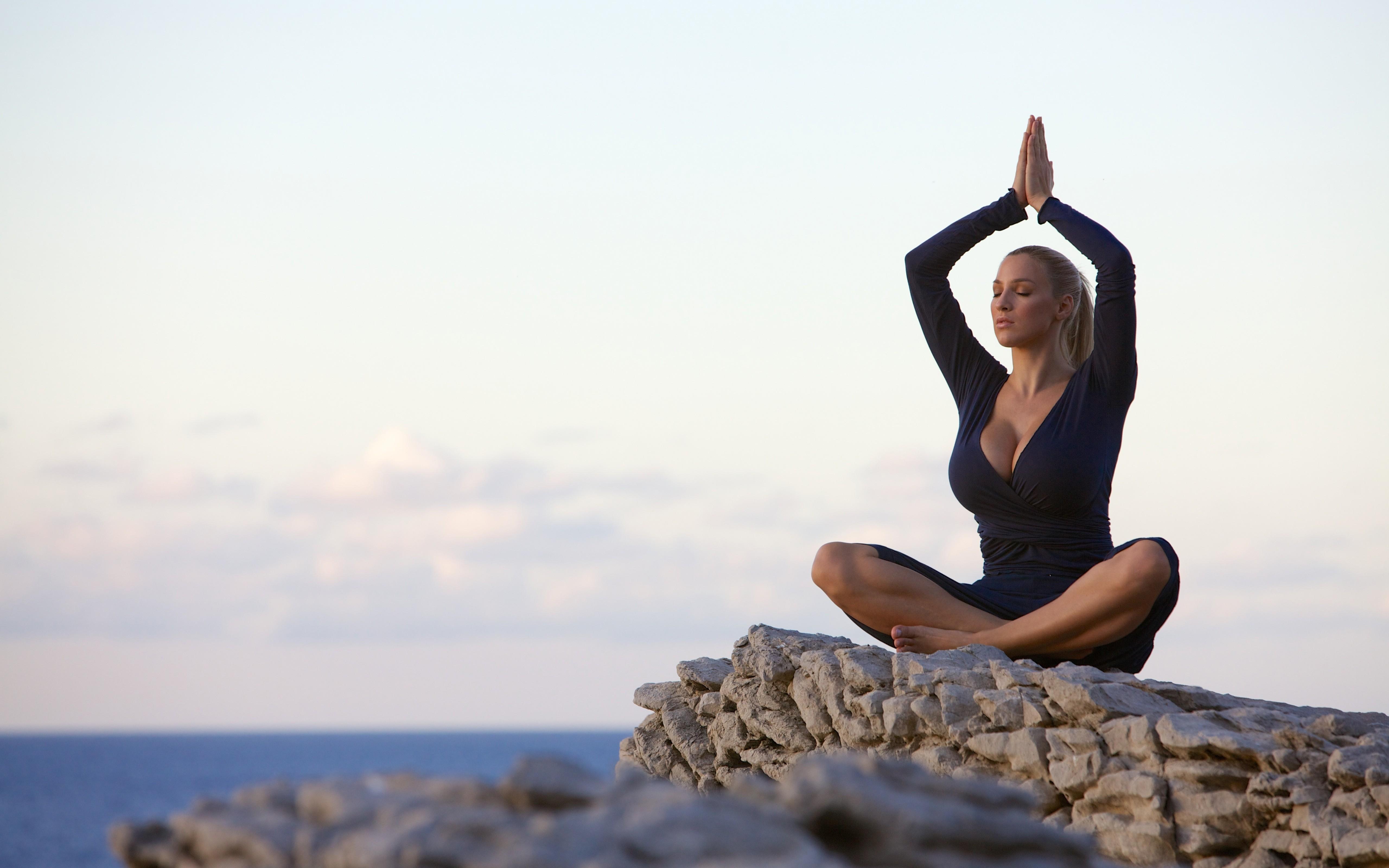 Wallpaper : women, Jordan Carver, big boobs, yoga