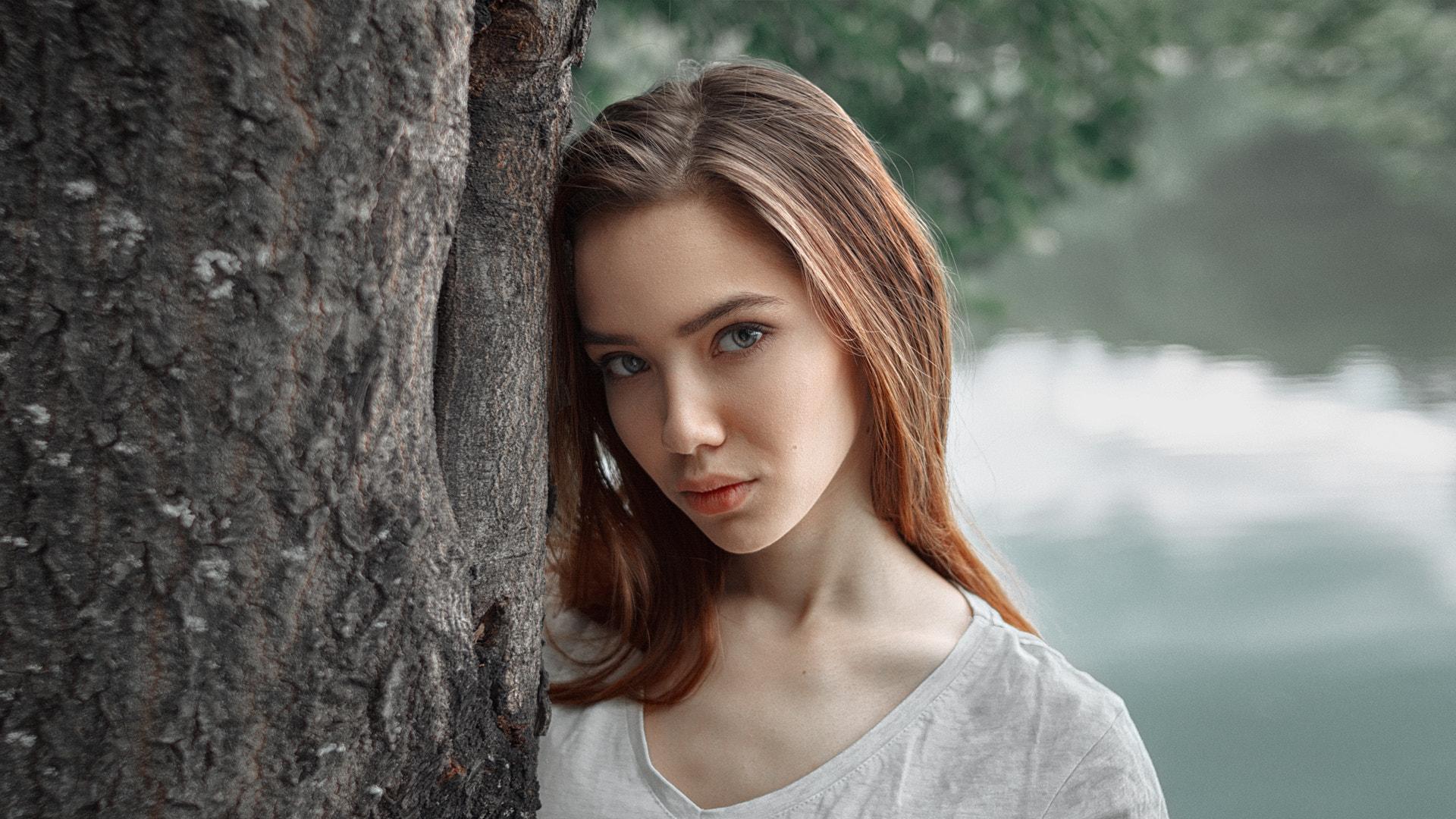 Девушка в лесу картинки без обработки