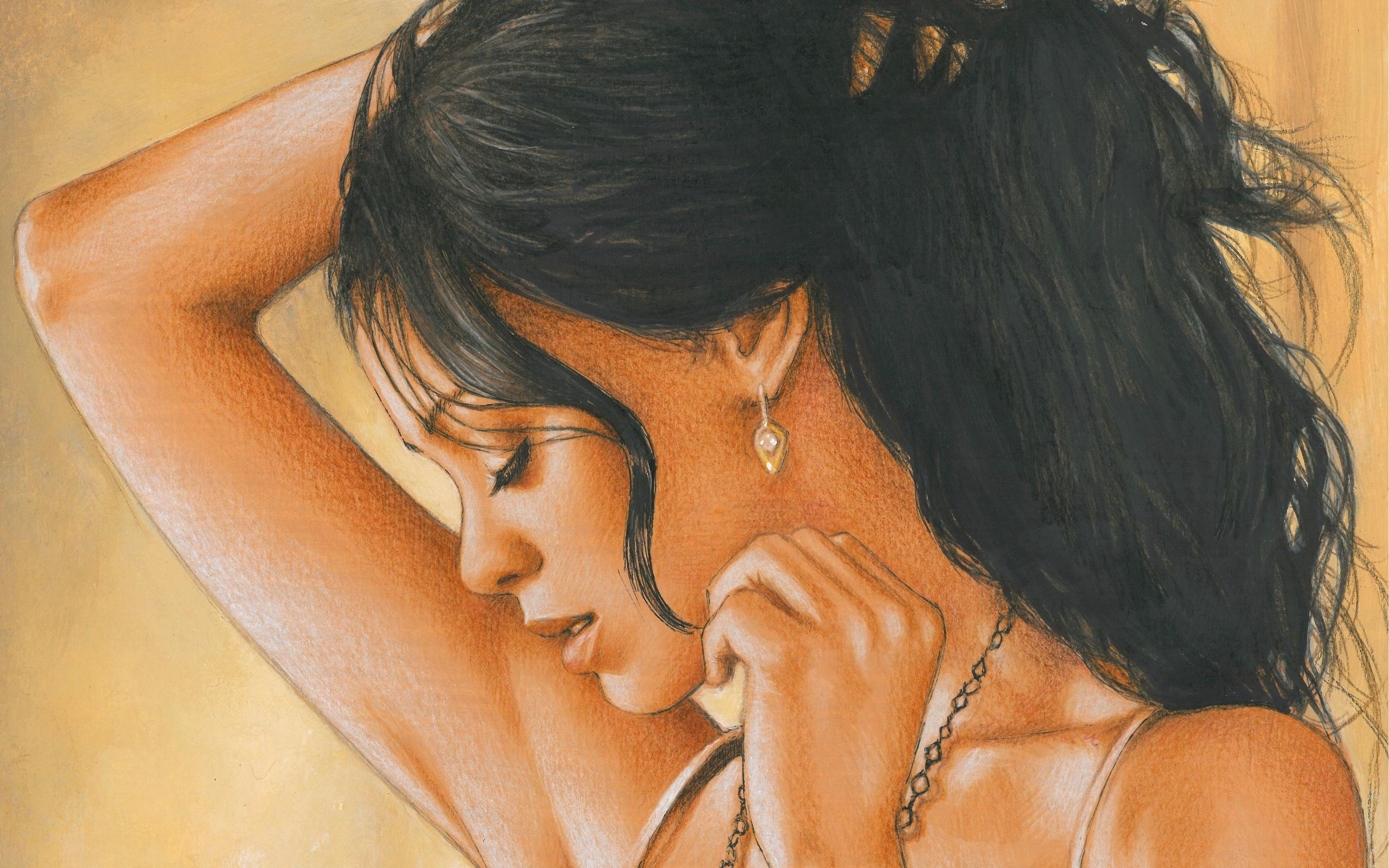 Картинки с женщинами красивые без лица рисунок