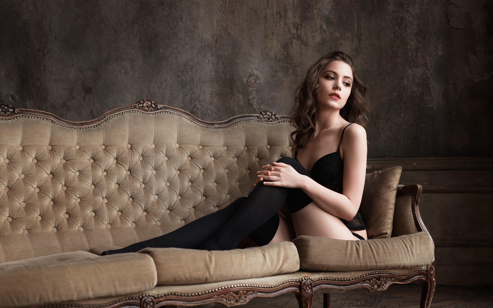 Wallpaper : women, portrait, black stockings, tattoo, high