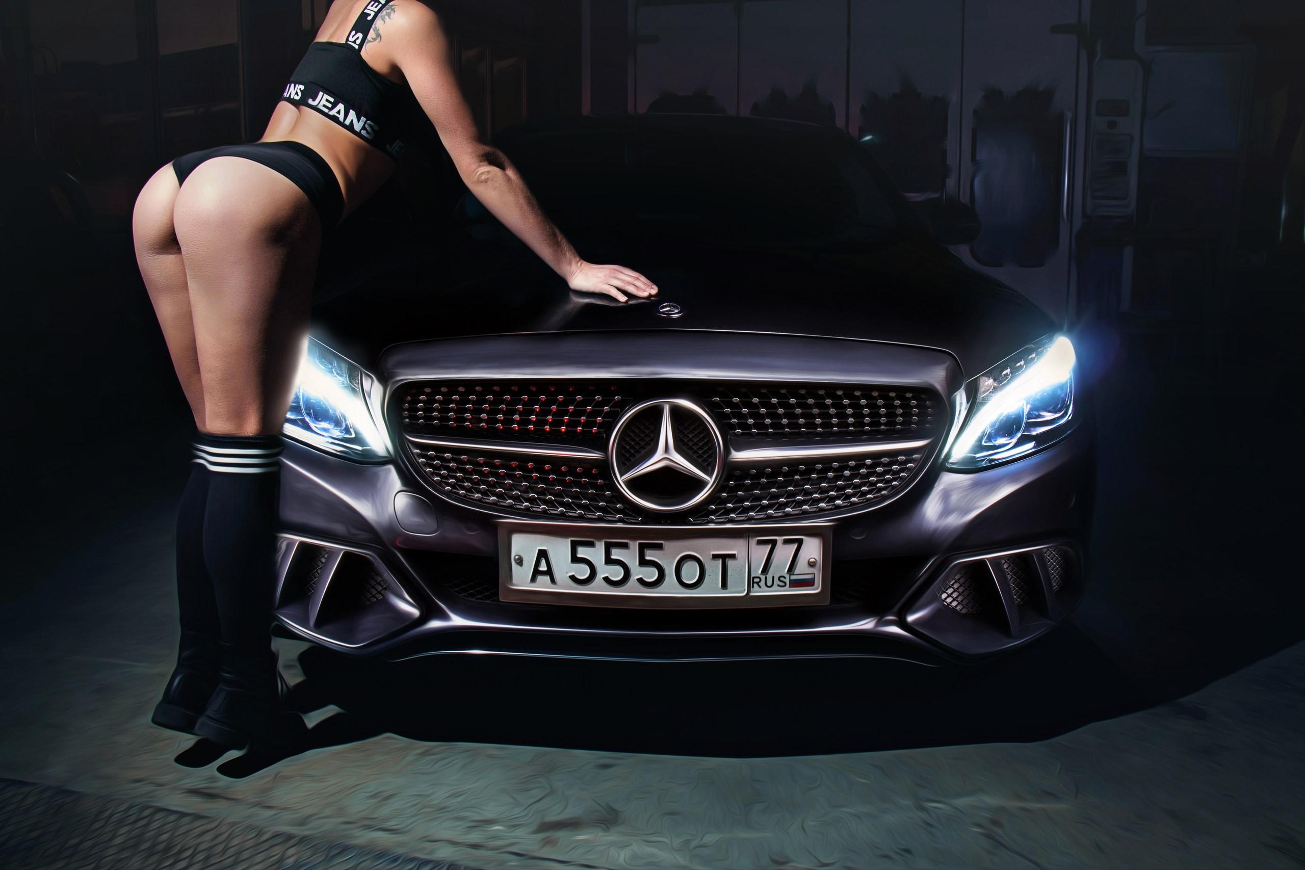 Fond d 39 cran femmes cul bronz v hicule tatouage for Mercedes benz delaware