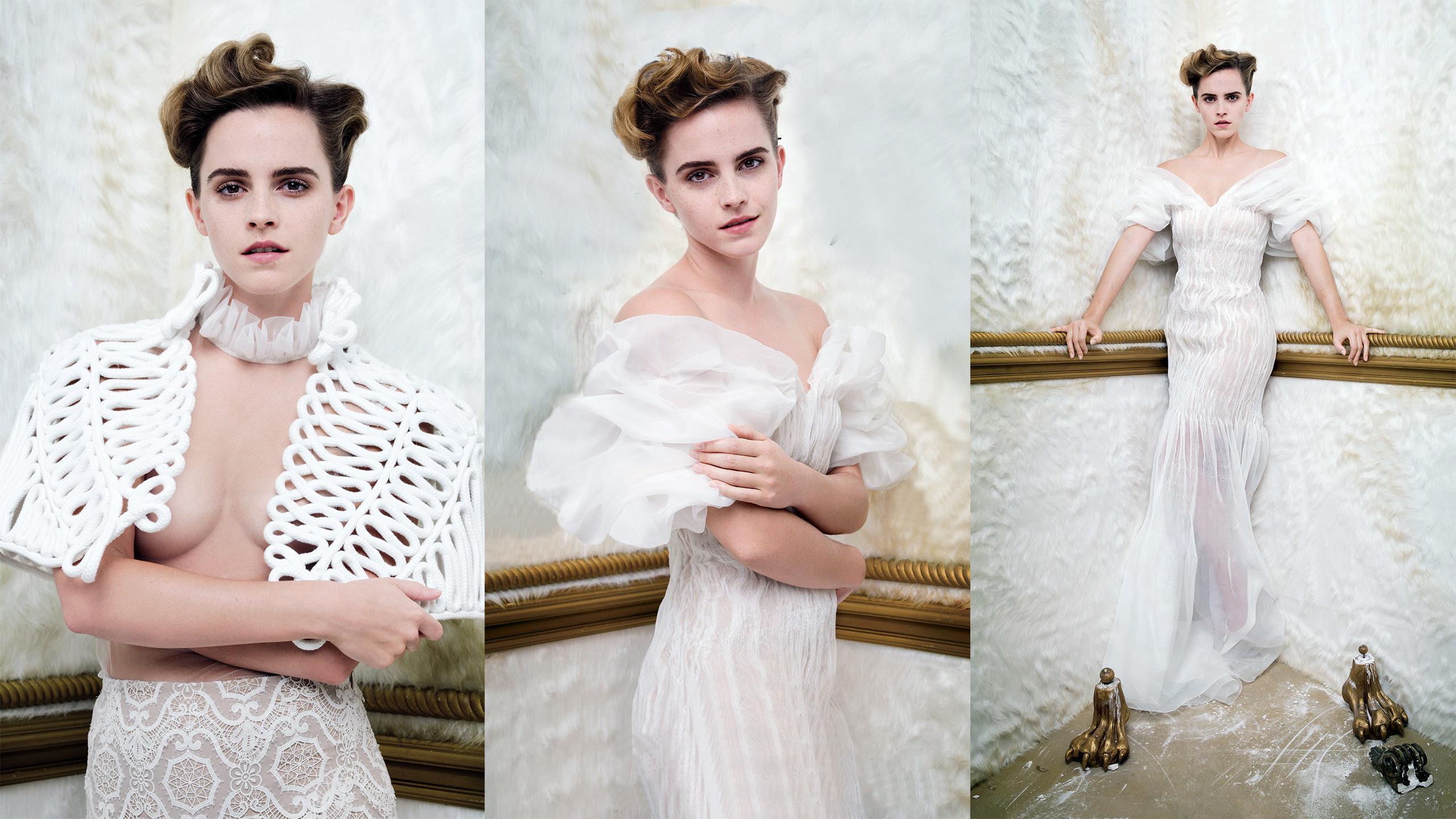 Hintergrundbilder : Frau, Collage, Emma Watson, Vanity Fair, weißes ...