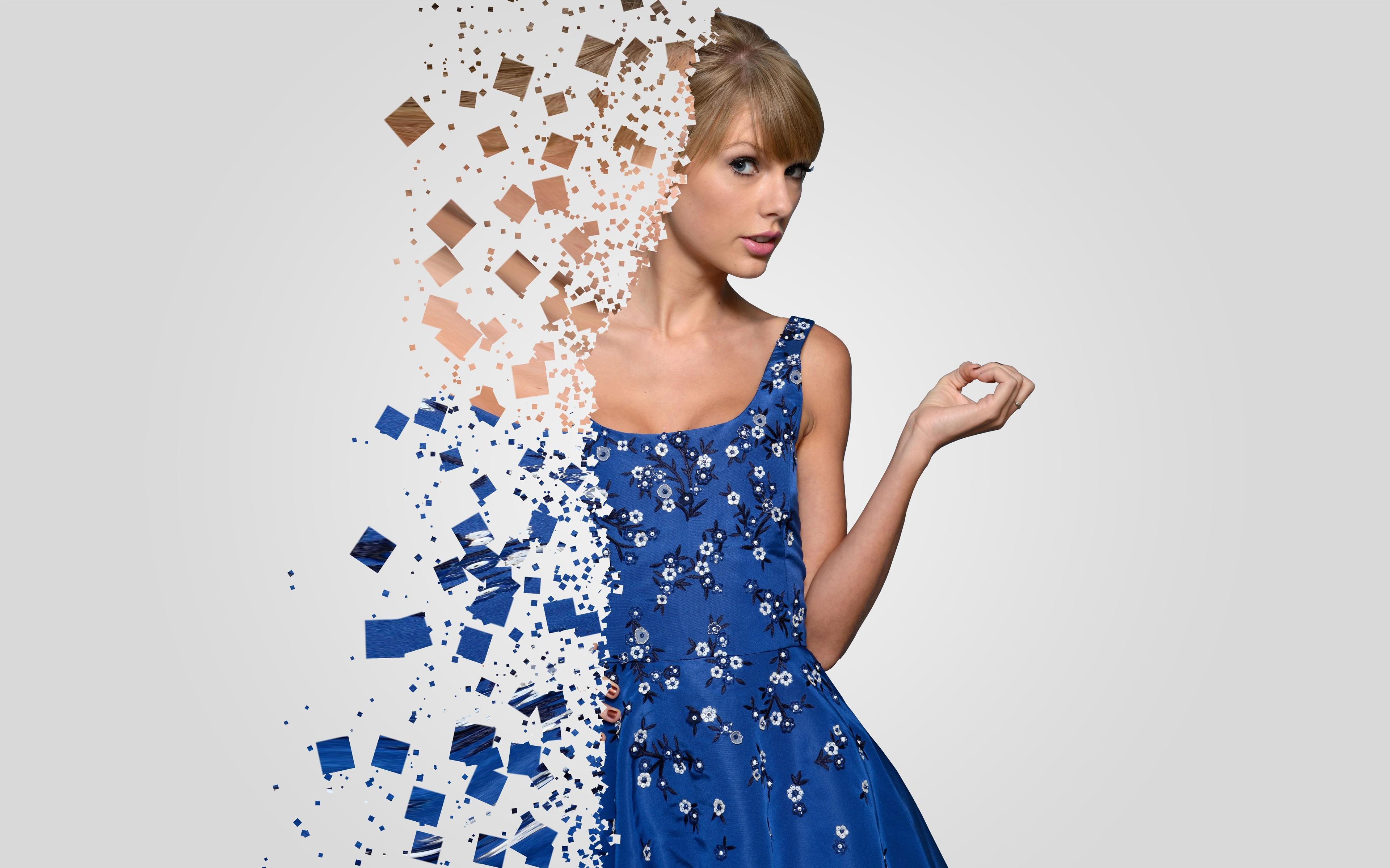 Hintergrundbilder : Frau, Kleid, blau, Muster, Taylor Swift, Mode ...