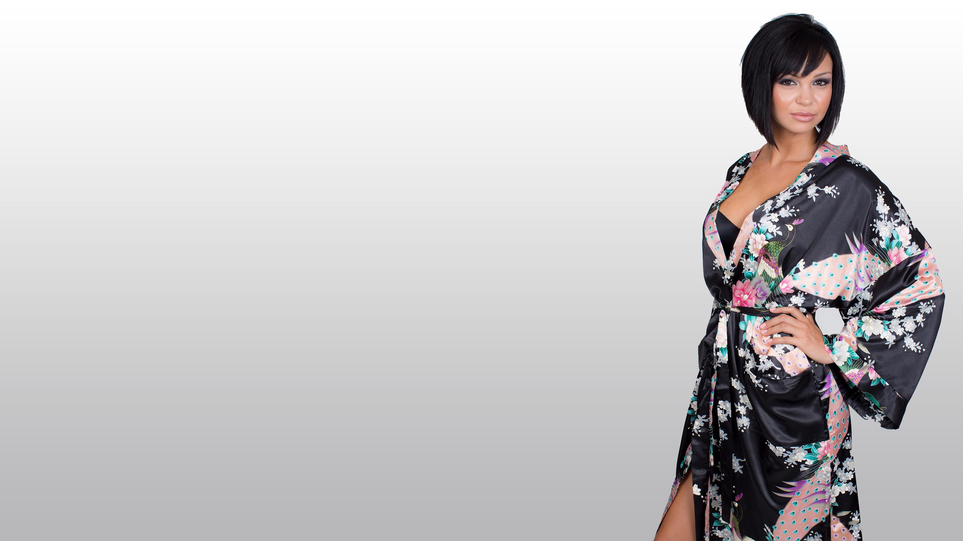 Kimono Kjole Baggrunde Gevandter Satin Mønster Kvinder Mode v6wwIqU0