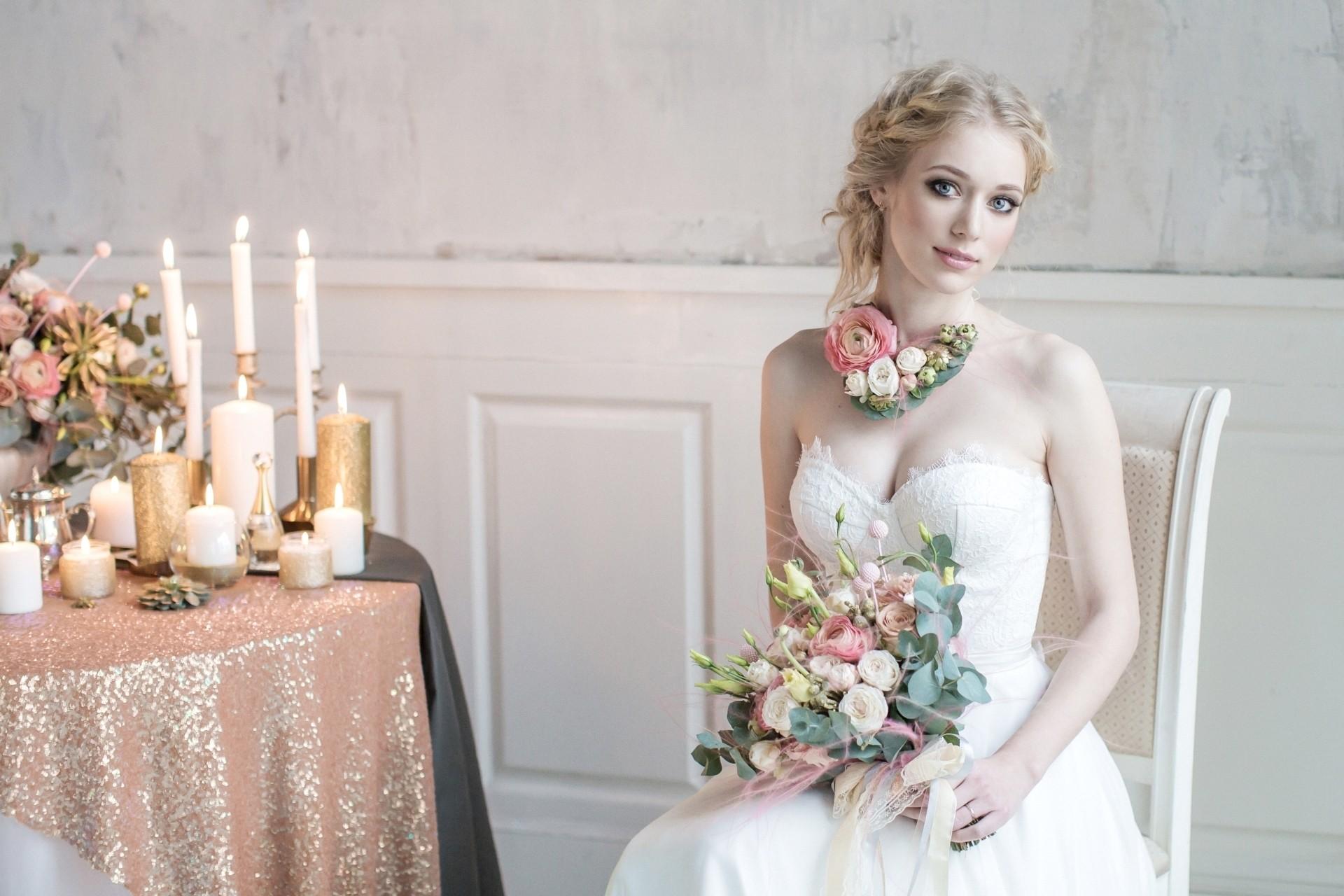 デスクトップ壁紙 女性 ウェディングドレス 結婚式 写真 ガウン