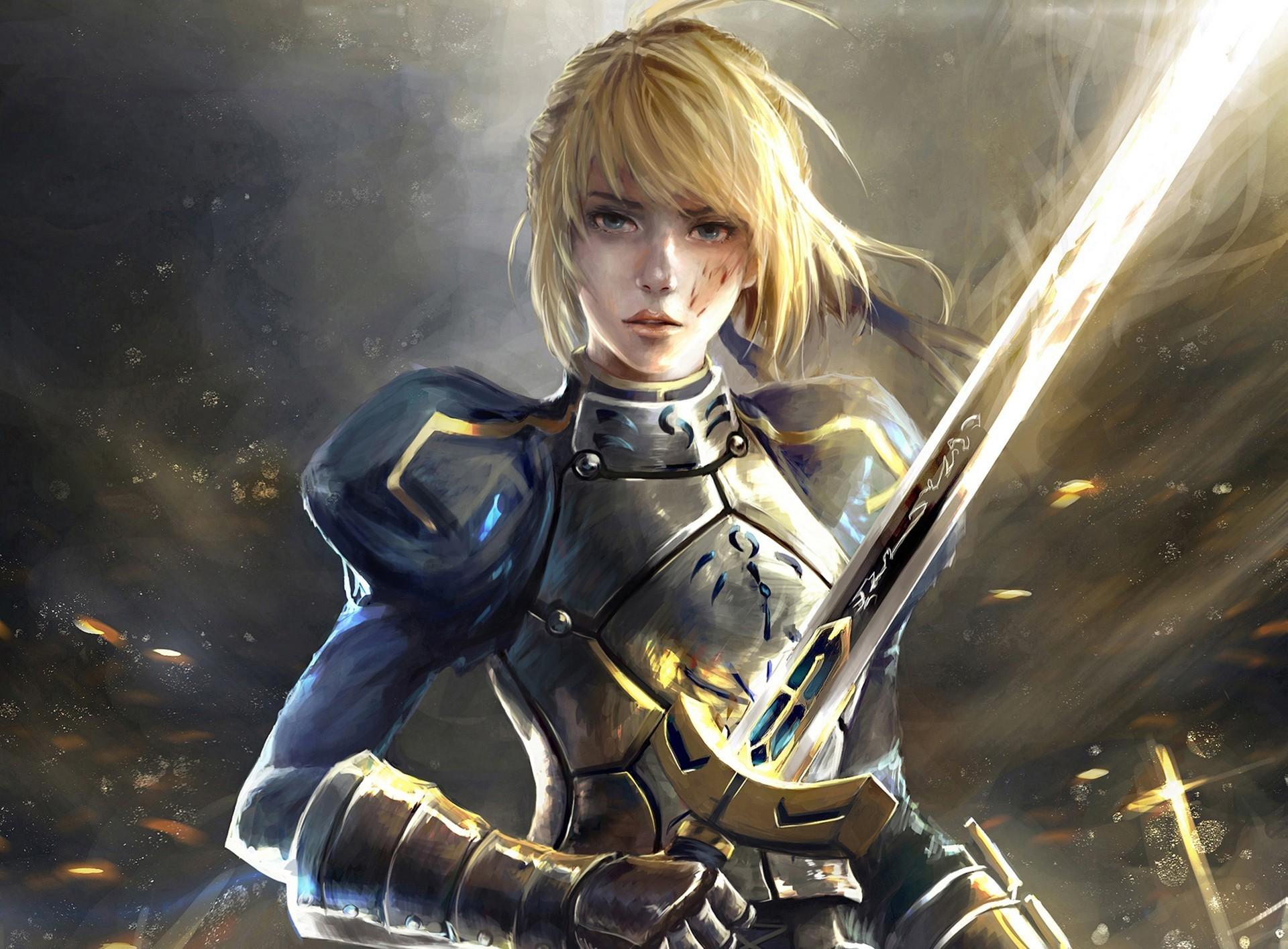 wallpaper women fantasy art blonde anime artwork