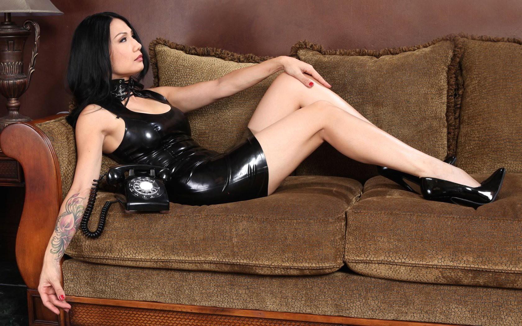 Wallpaper  Women, Long Hair, Black Dress, Legs, Asian -2710