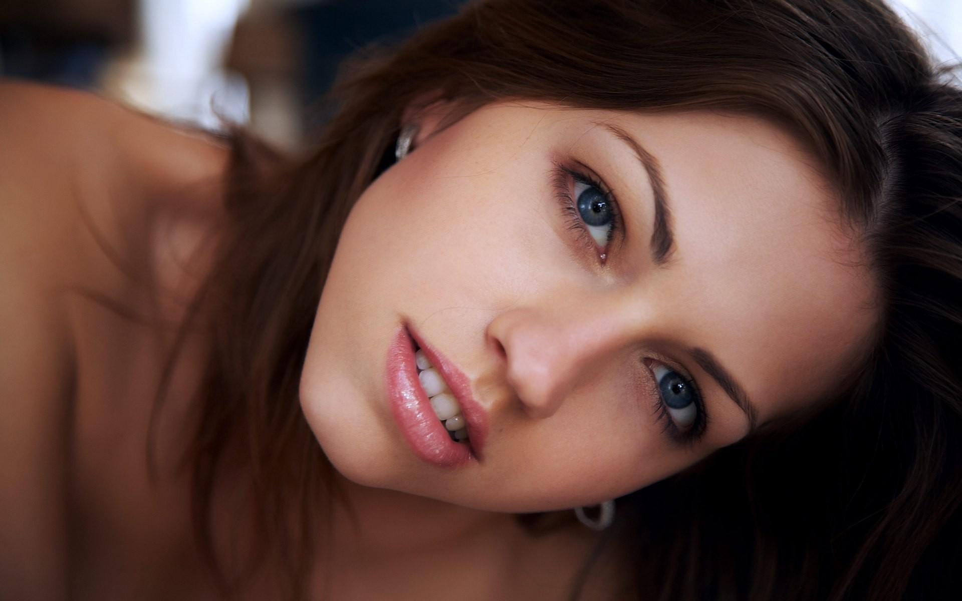 Blue Eyes Brunette Pornstar
