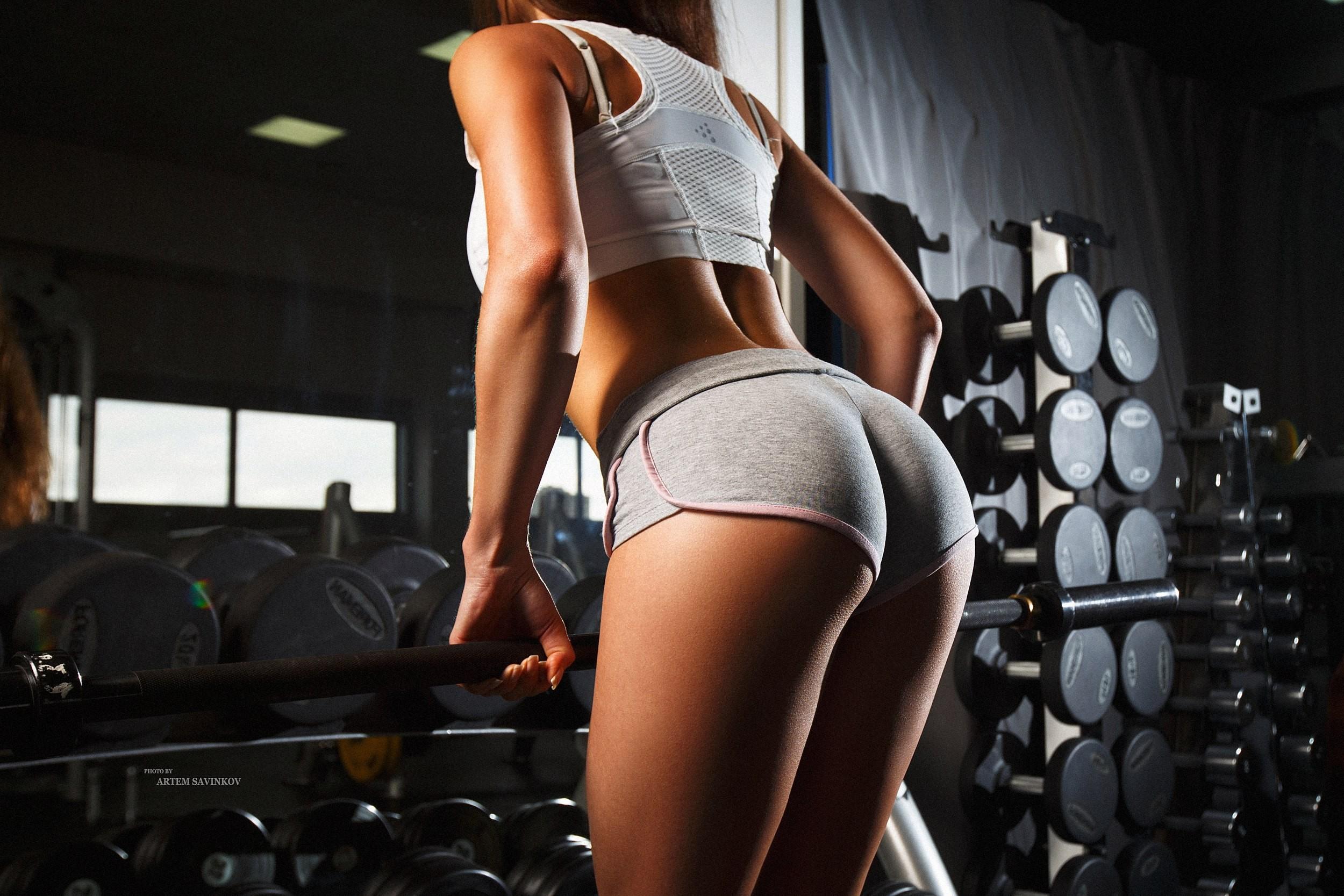 Wallpaper Women Ass Sportswear Room Gyms Mirror