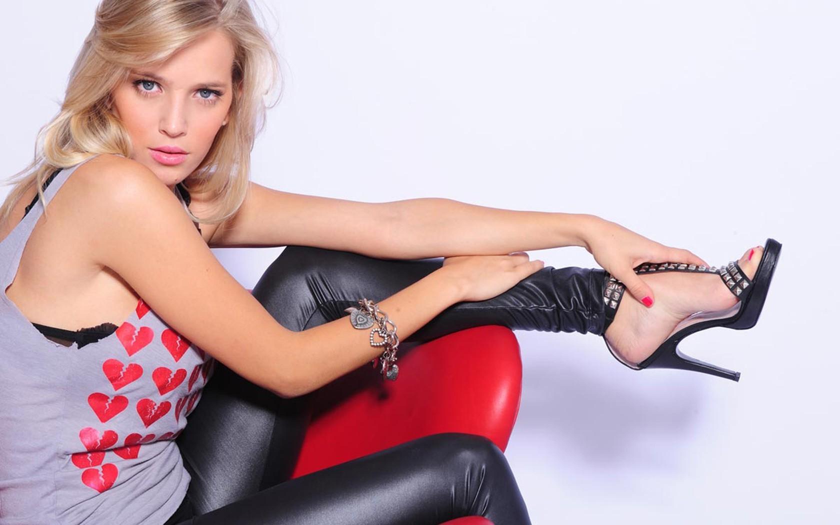 blonde Strumpfbilder