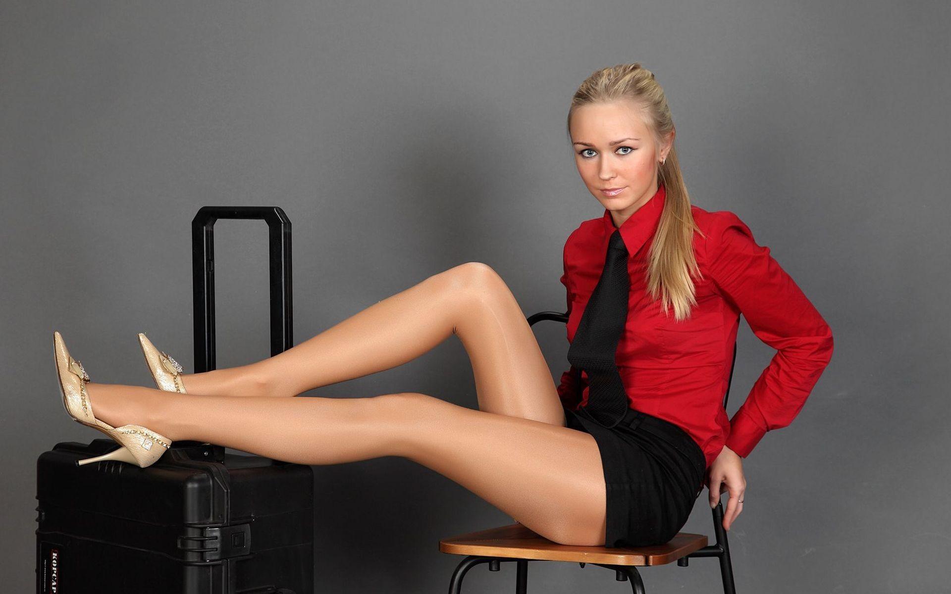 women in pantyhose and heels