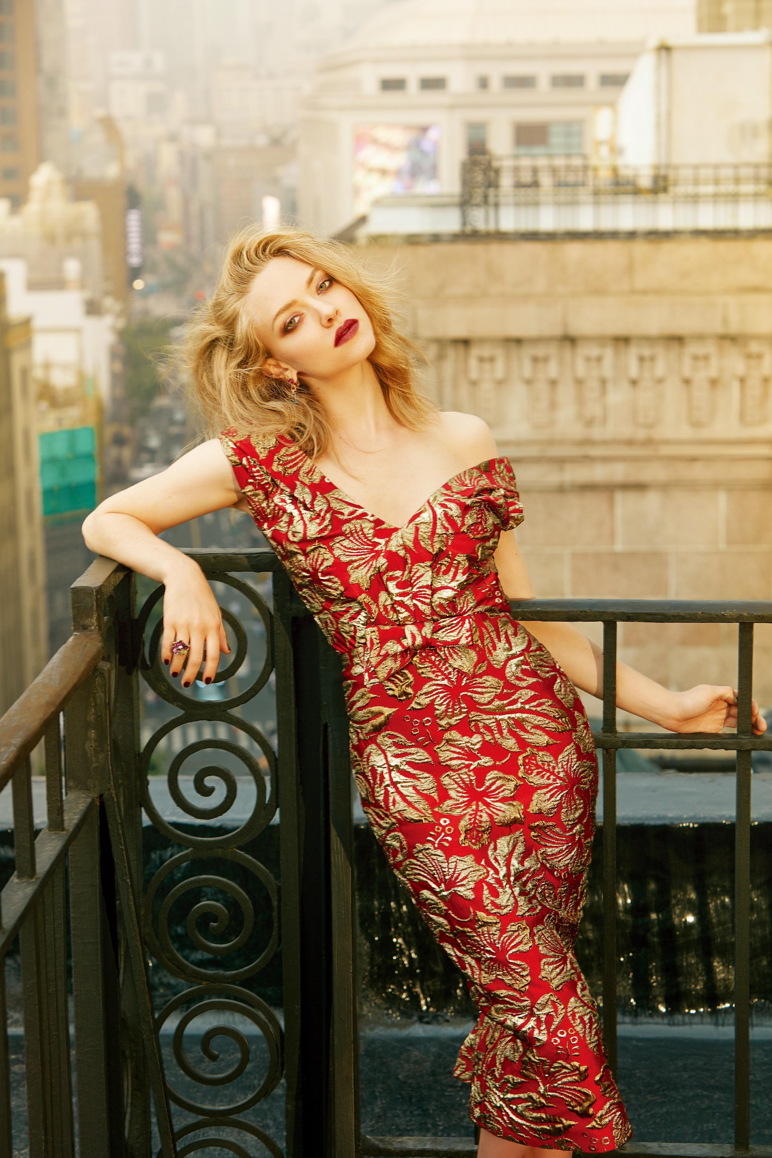 デスクトップ壁紙 女性 モデル ブロンド 赤 女優 ドレス