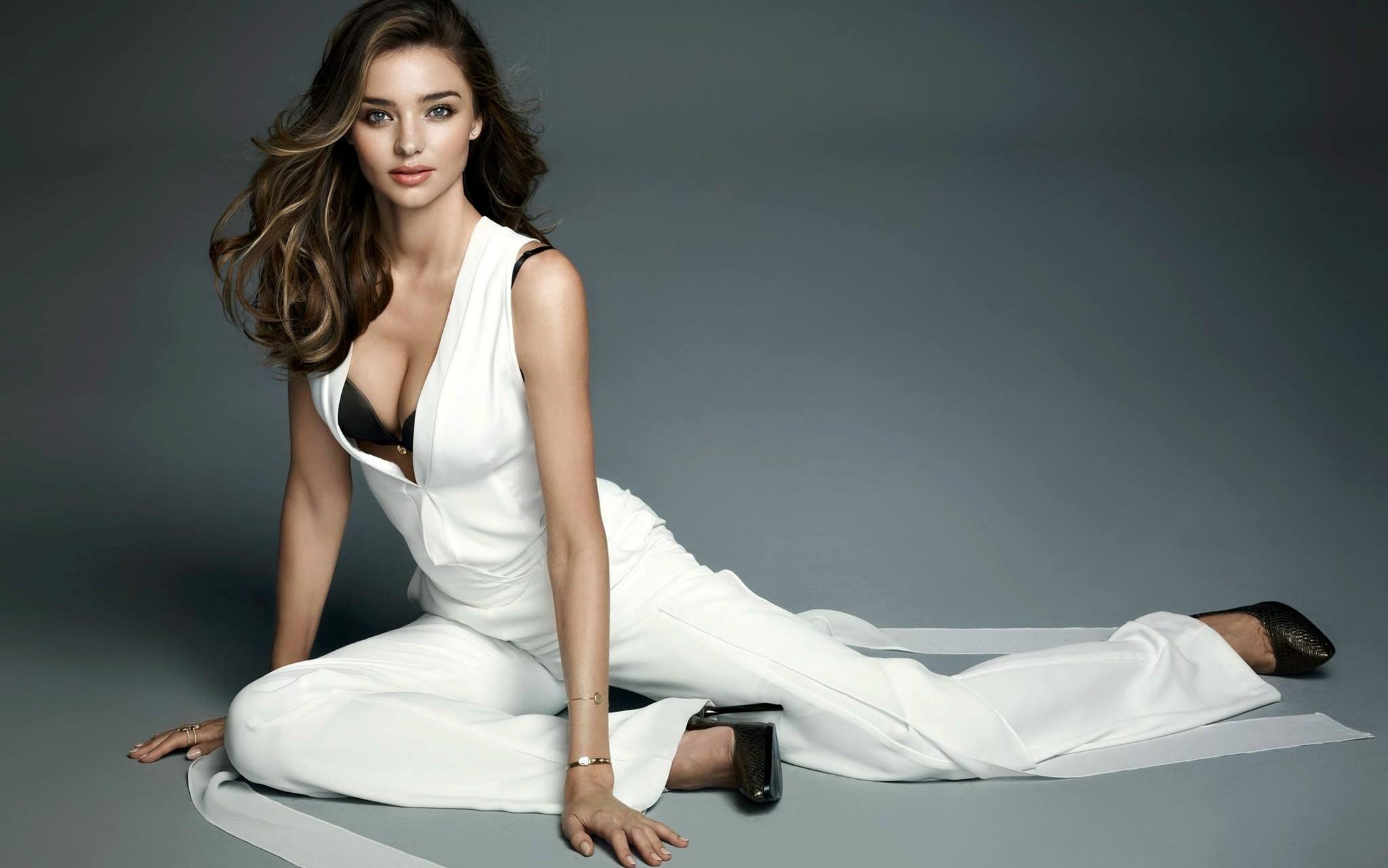 02640fe0249d5 women model blue eyes brunette cleavage bra fashion Miranda Kerr wedding  dress clothing supermodel leg gown