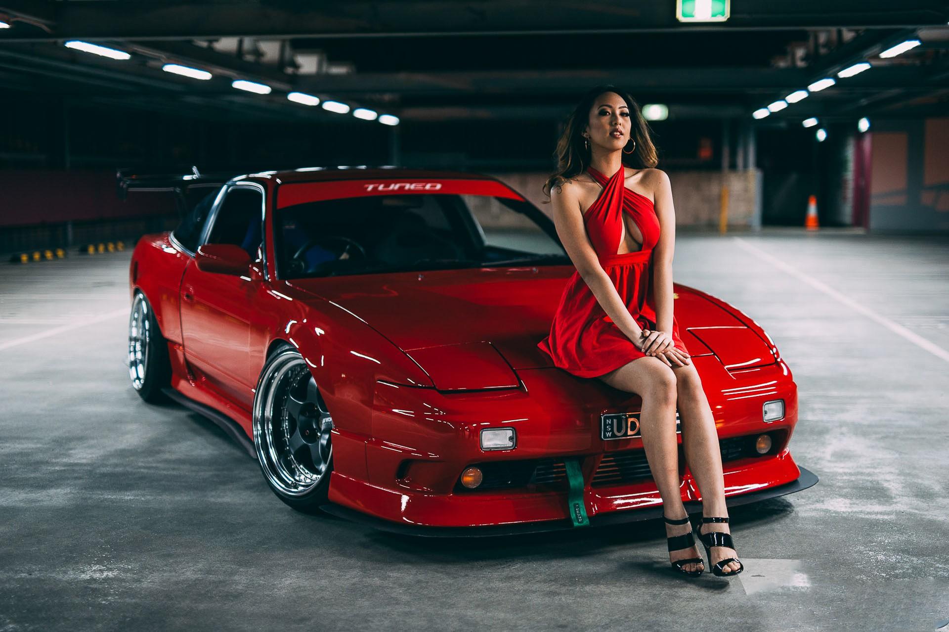 Mazda Furai Vehículos Supercars Hd Fondos De Pantalla: Fondos De Pantalla : Mujer, Modelo, Vehículo, Mujeres Con