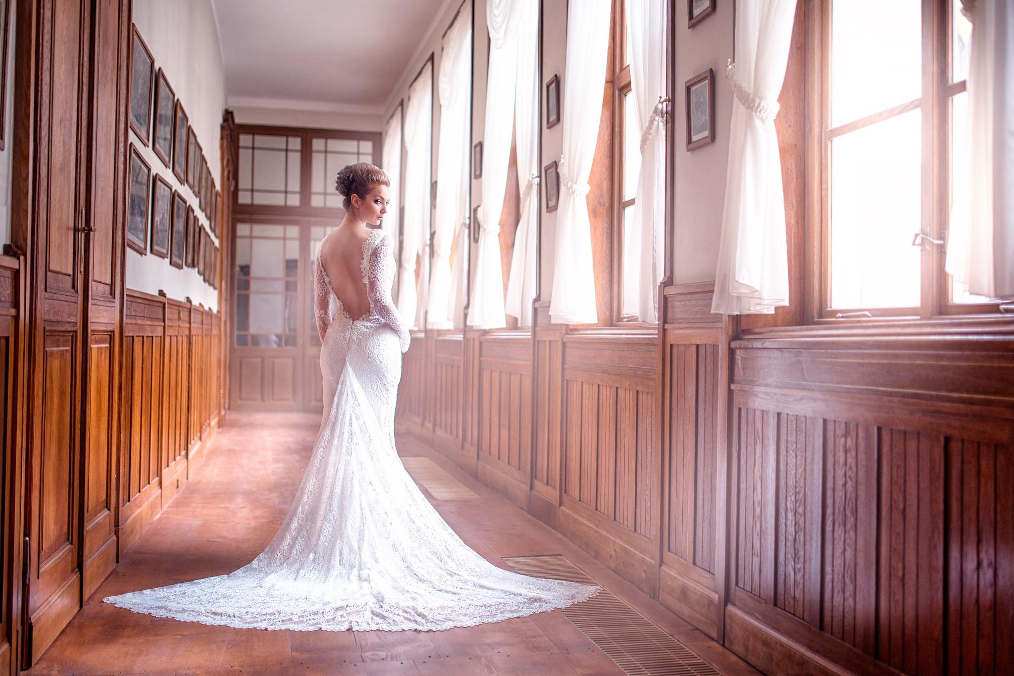 Fondos de pantalla : mujer, modelo, vestir, vestido de novia, Boda ...