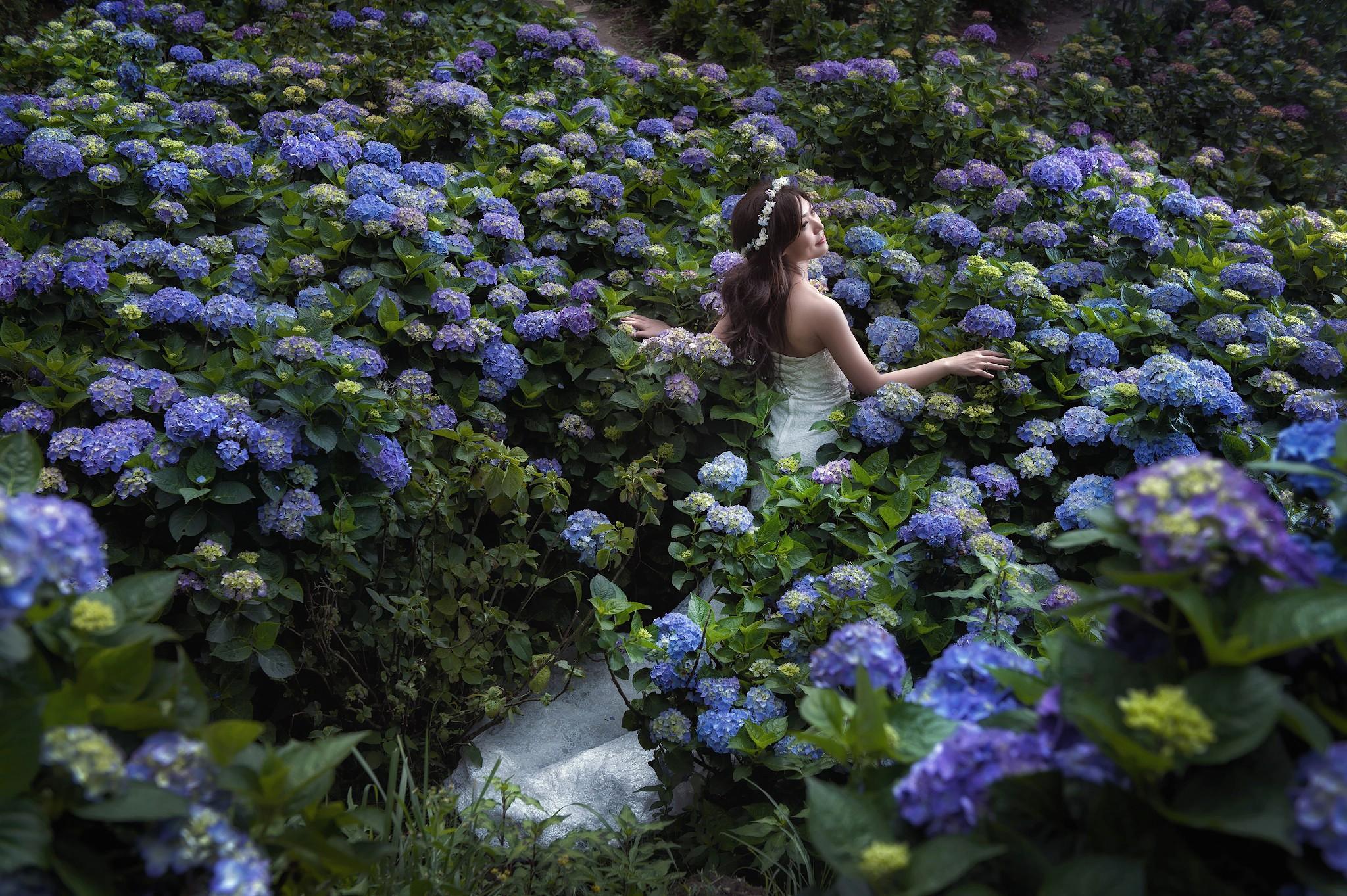 Papel De Parede Mulheres Modelo Flores Jardim Asi Tico Flor  -> Modelos De Papel De Parede Em Forma De Flores