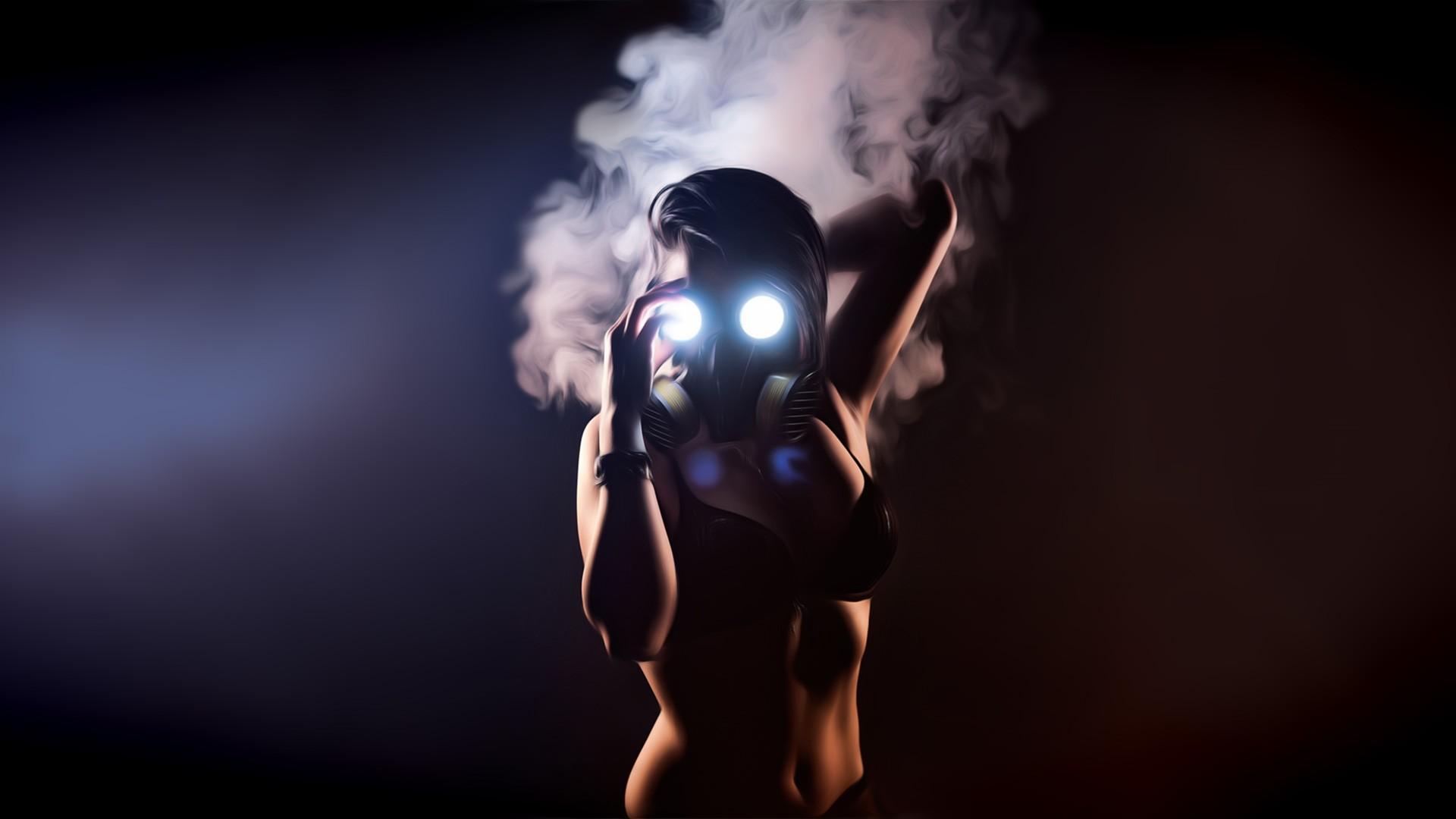 Wallpaper Women Model Gas Masks Photography Glowing Smoke Romantically Apocalyptic Light Darkness Screenshot Computer Wallpaper 1920x1080 Stan461609 357893 Hd Wallpapers Wallhere