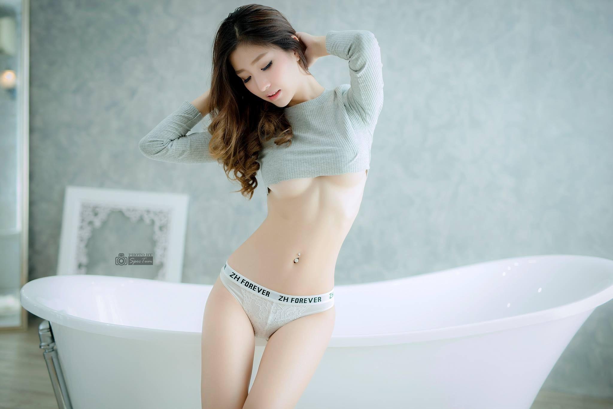 Cum woman asian otngagged