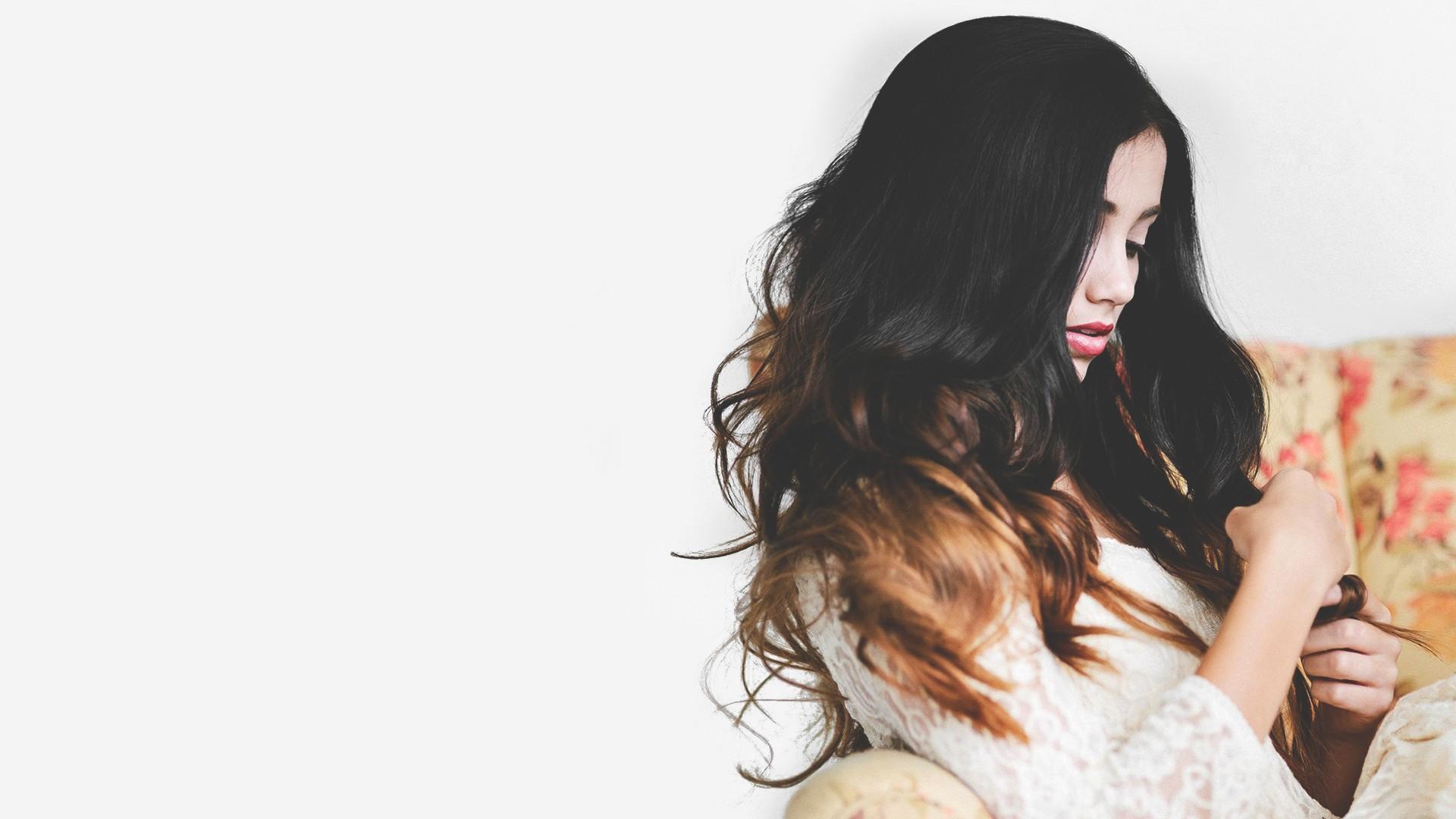 Hintergrundbilder Frau Modell Lange Haare Brünette