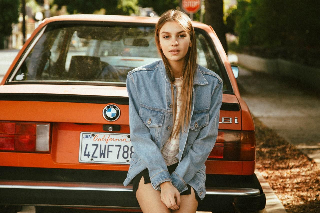 Wallpaper Model Long Hair Car Women With Cars