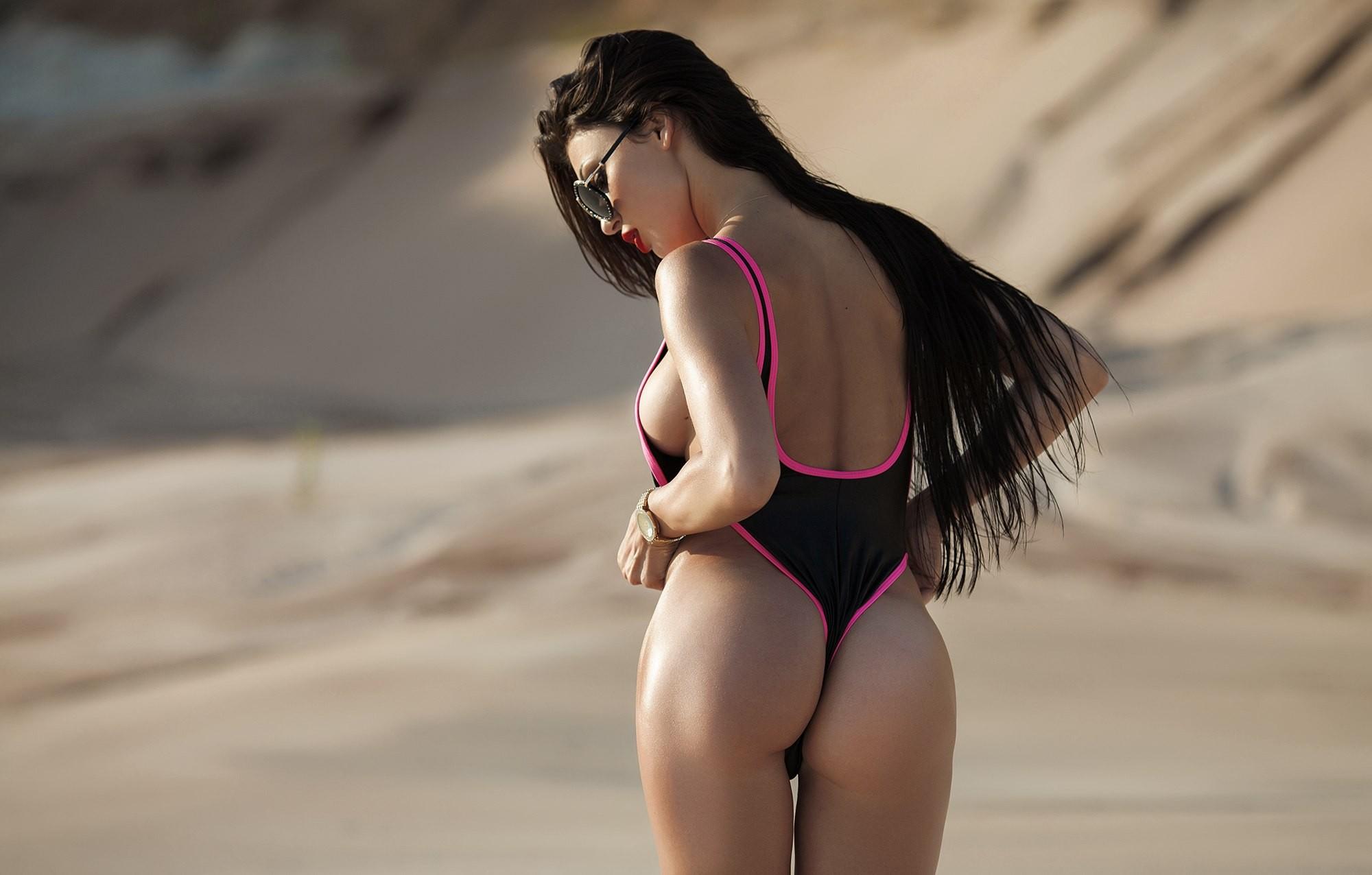 Busty leanne so hot in her tiny red bikini