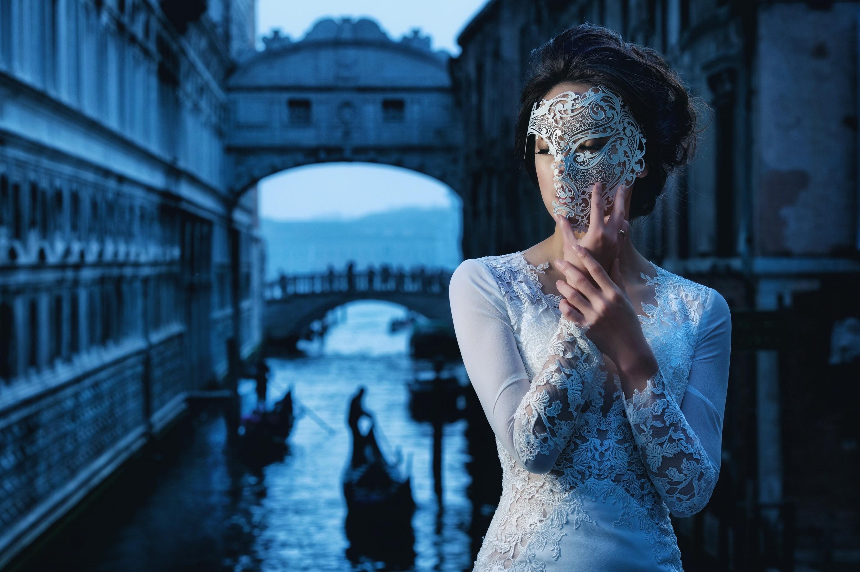 Fondos de pantalla : mujer, modelo, retrato, Venecia, fotografía ...