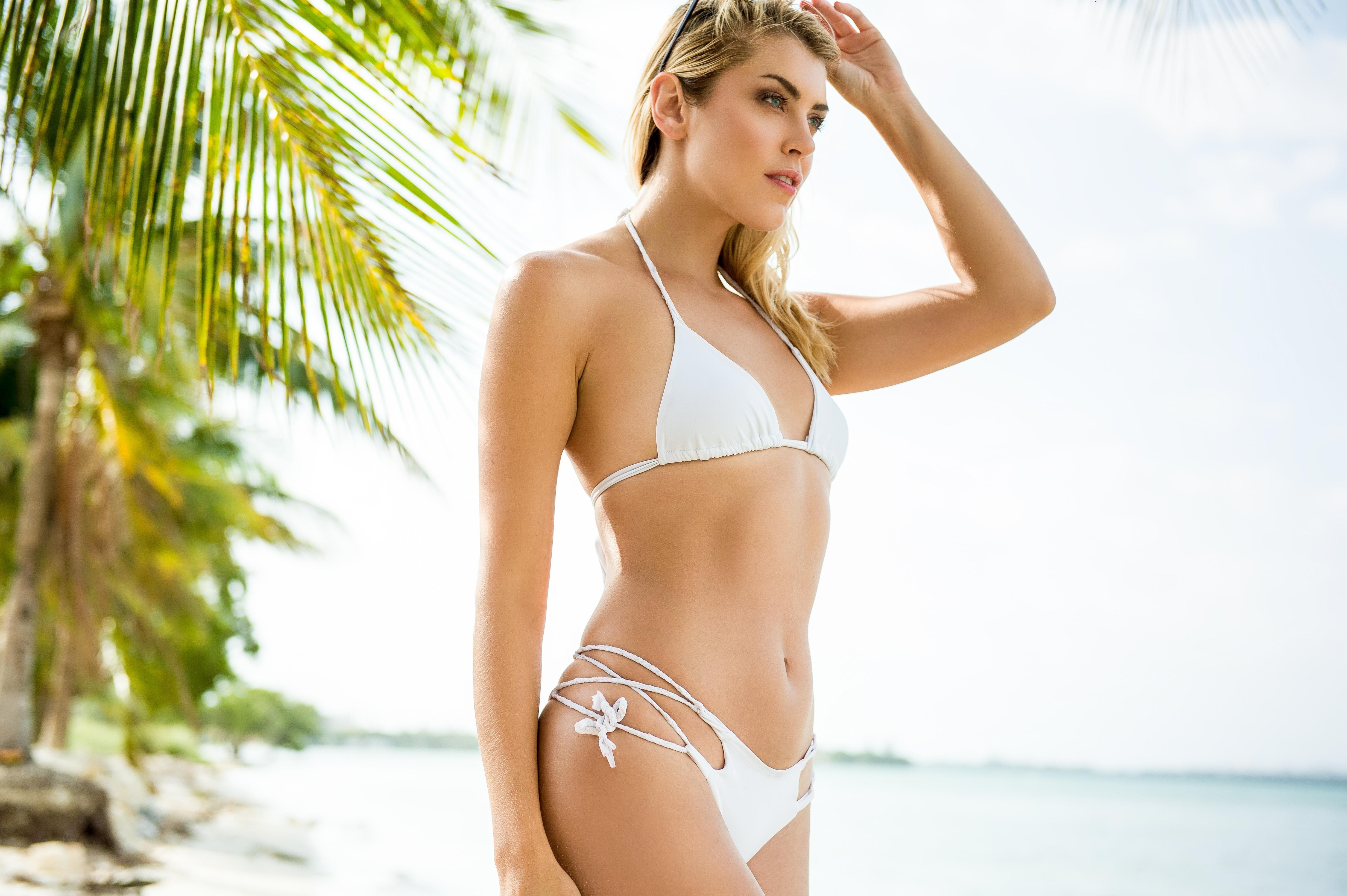 Sexy Blonde Woman In Bikini Stock Photo