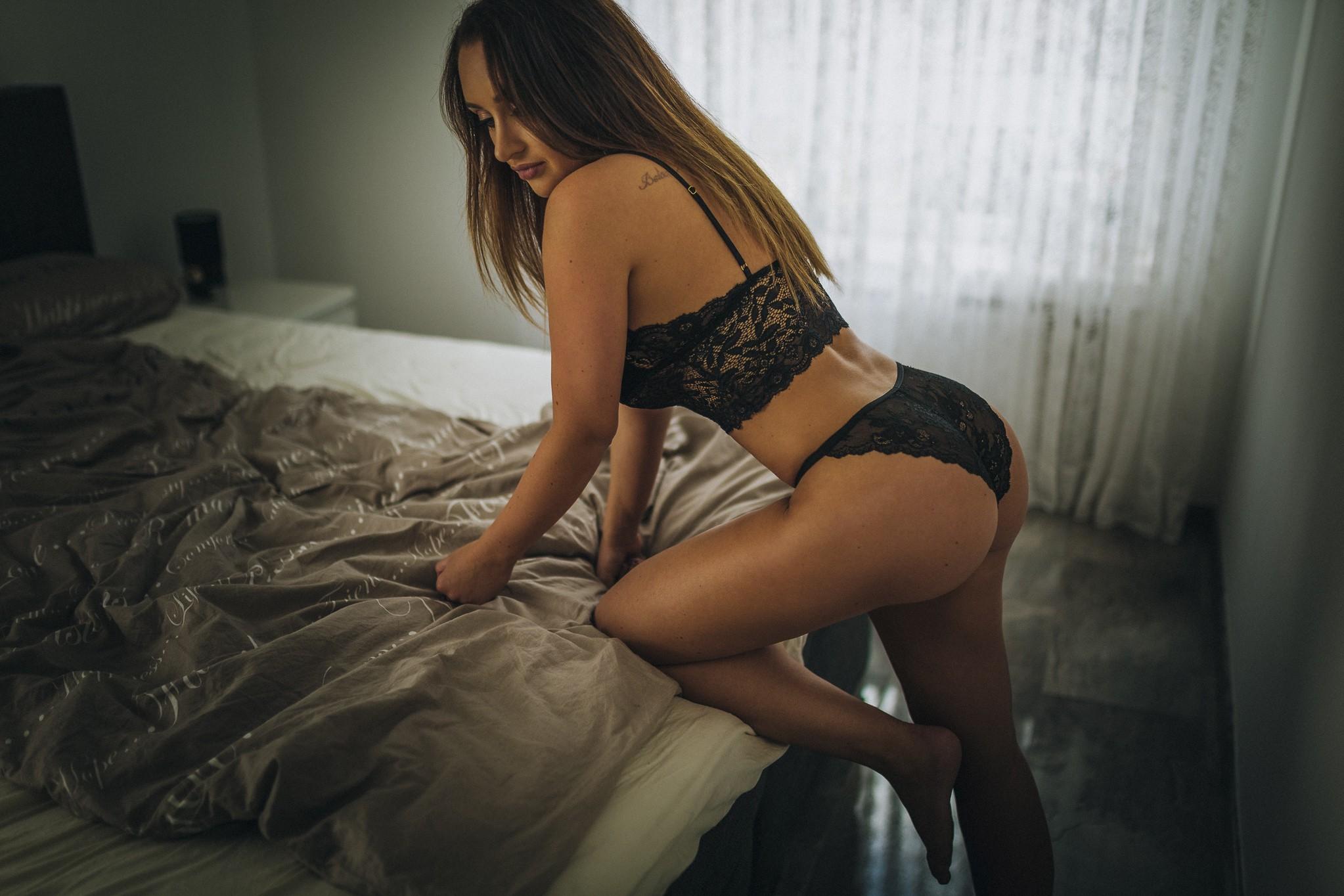 фотосессия девушки в нижнем белье домашнее секс обмен