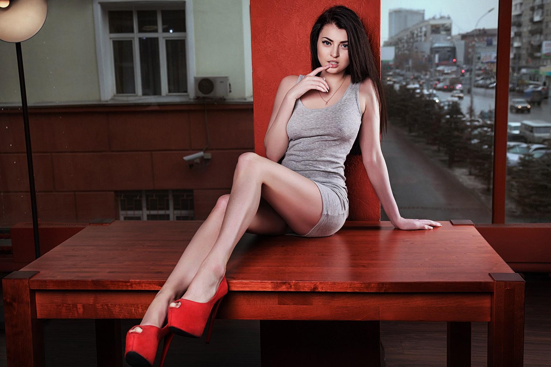 Hintergrundbilder : Frau, Modell-, Porträt, lange Haare, Brünette ...