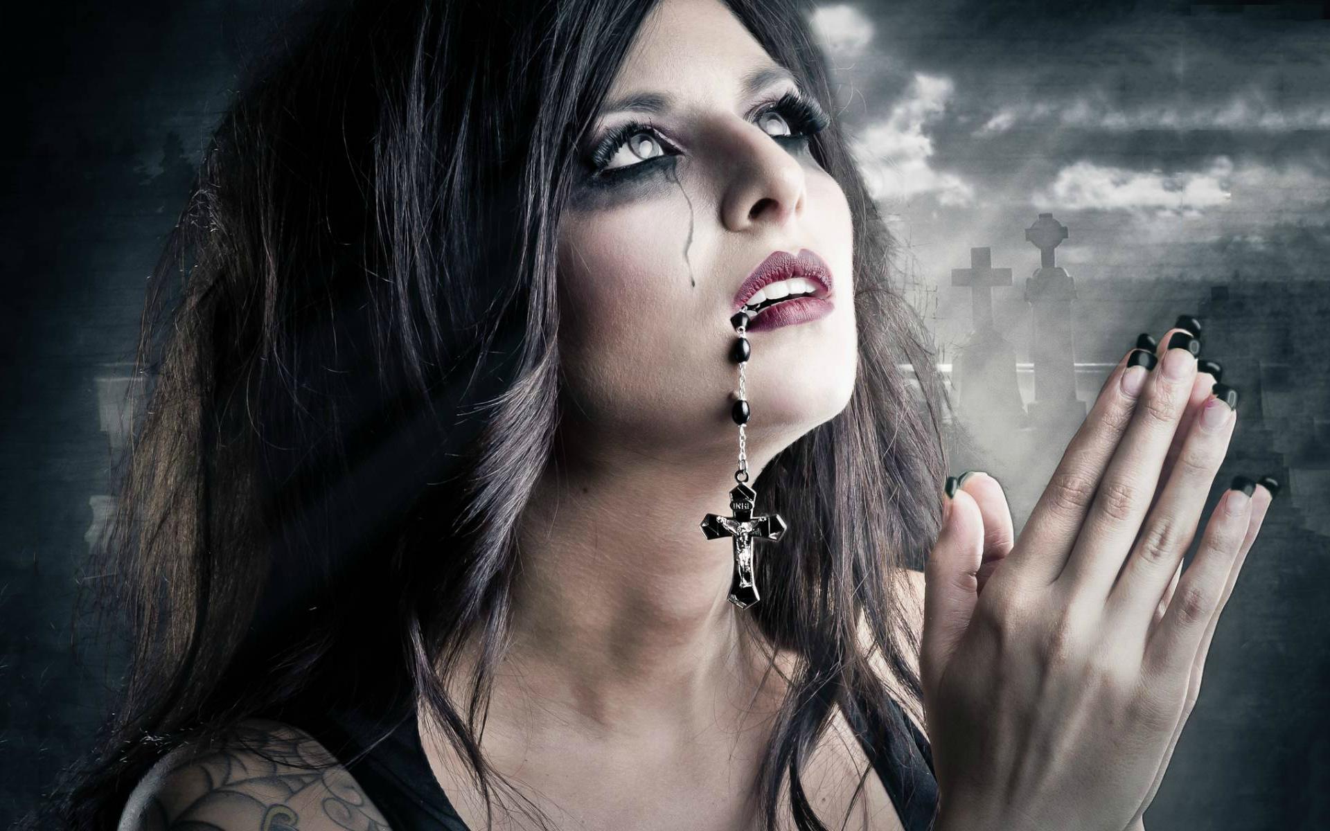 Wallpaper : women, model, black hair, fashion, Gothic ...