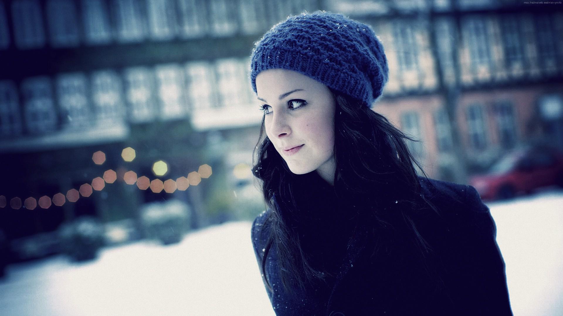 Брюнетки фото зимой на аву