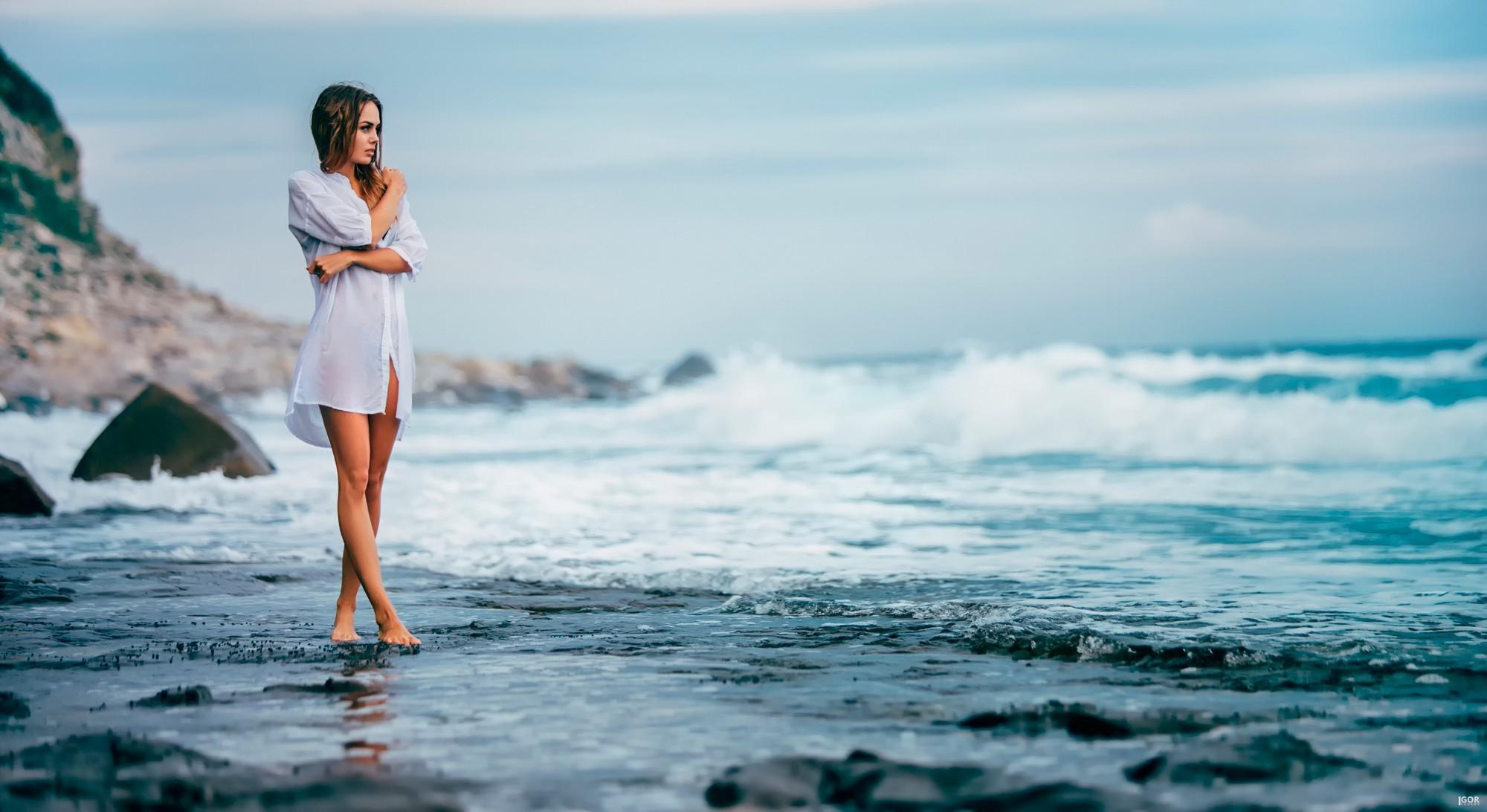 фото женщин на берегу моря смотри порно 6