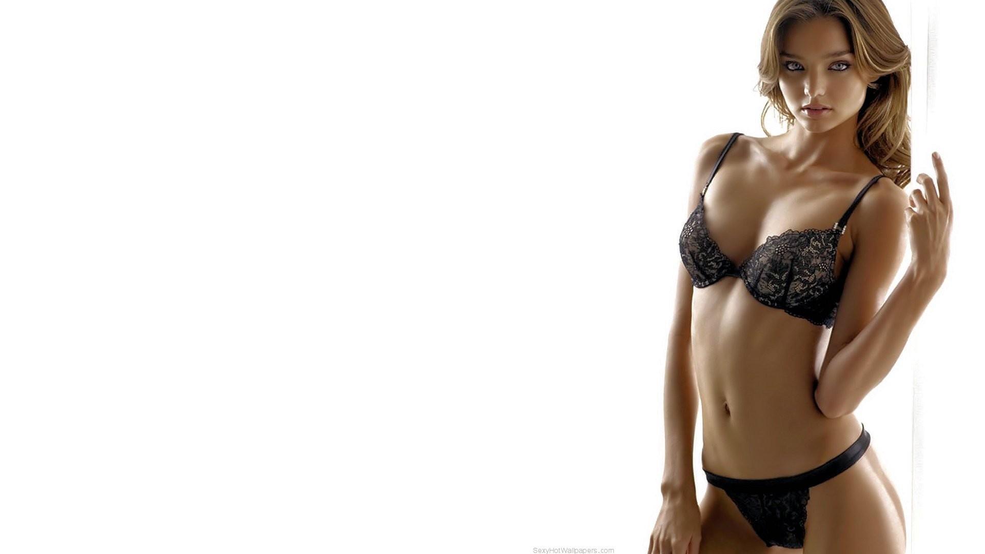 f0362f69aa842 women model simple background lingerie Miranda Kerr black lingerie black  bras swimwear clothing supermodel black panties