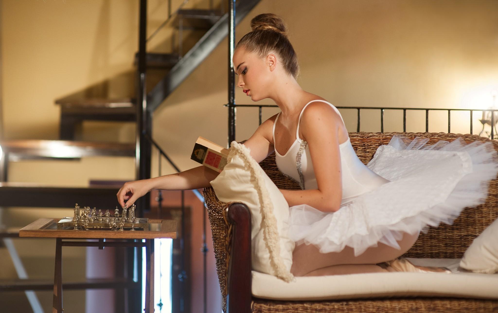 wallpaper women model sitting books reading ballerina person