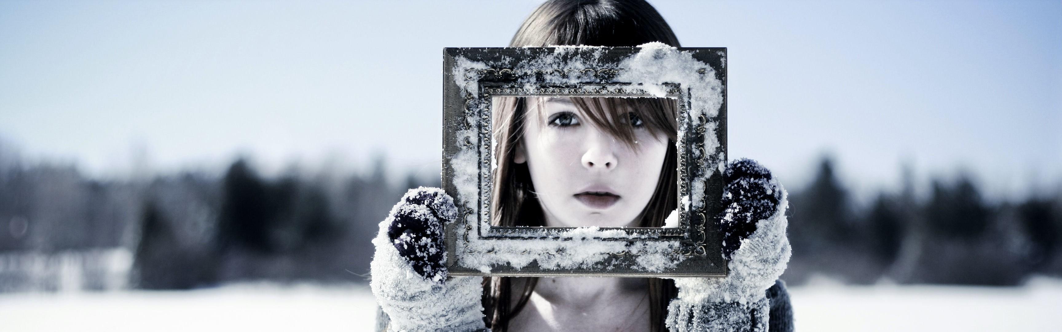 Fondos de pantalla : mujer, modelo, nieve, invierno, fotografía ...